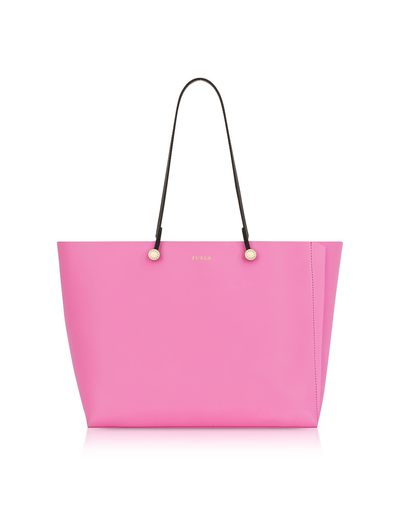 68e4cc05426b11 Furla - Pink Toni Orchidea Floris Printed Leather Eden Medium Tote Bag -  Lyst. View fullscreen