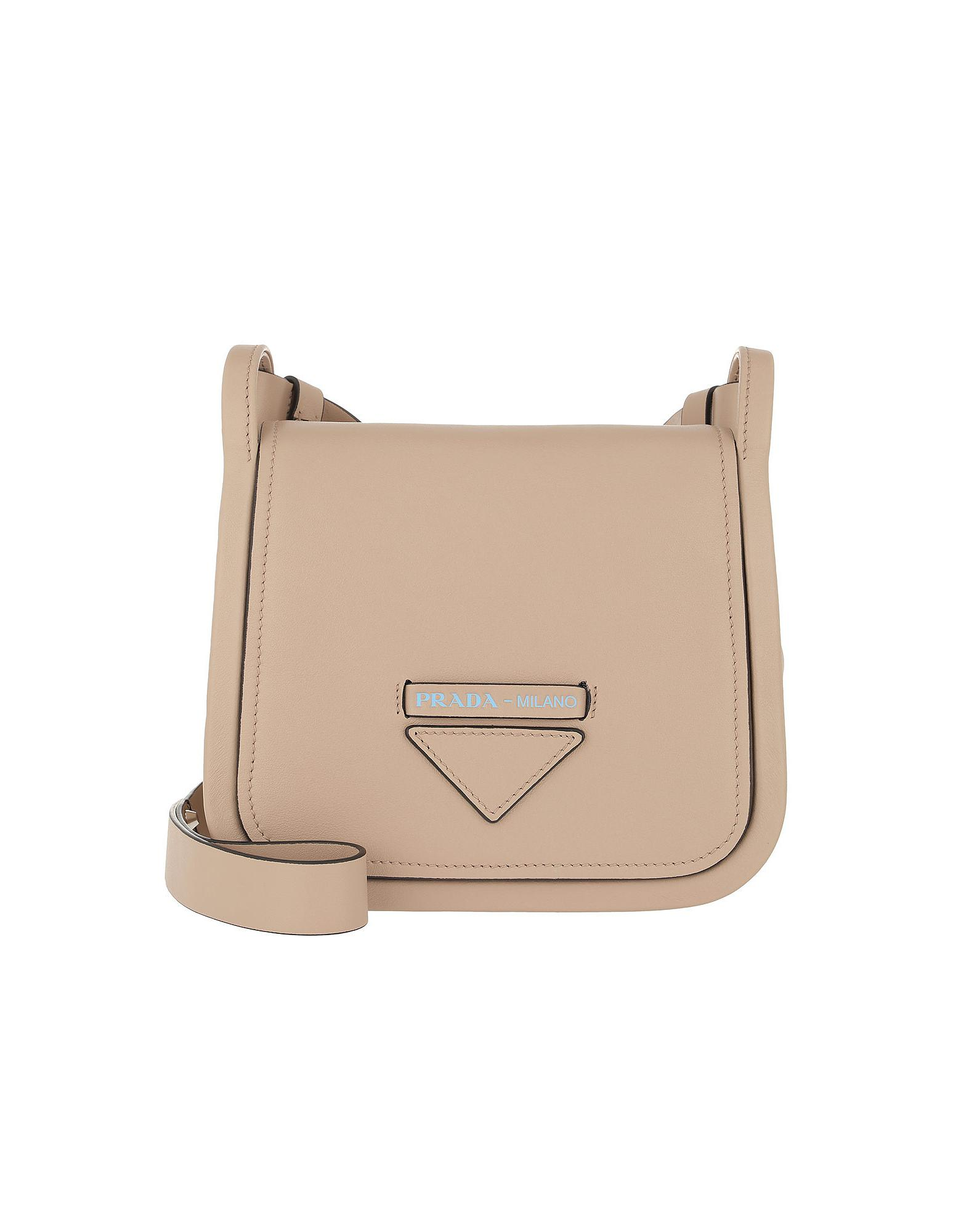 f4e7d3203106 Prada Crossbody Bag With Logo Leather Cammeo in Natural - Lyst