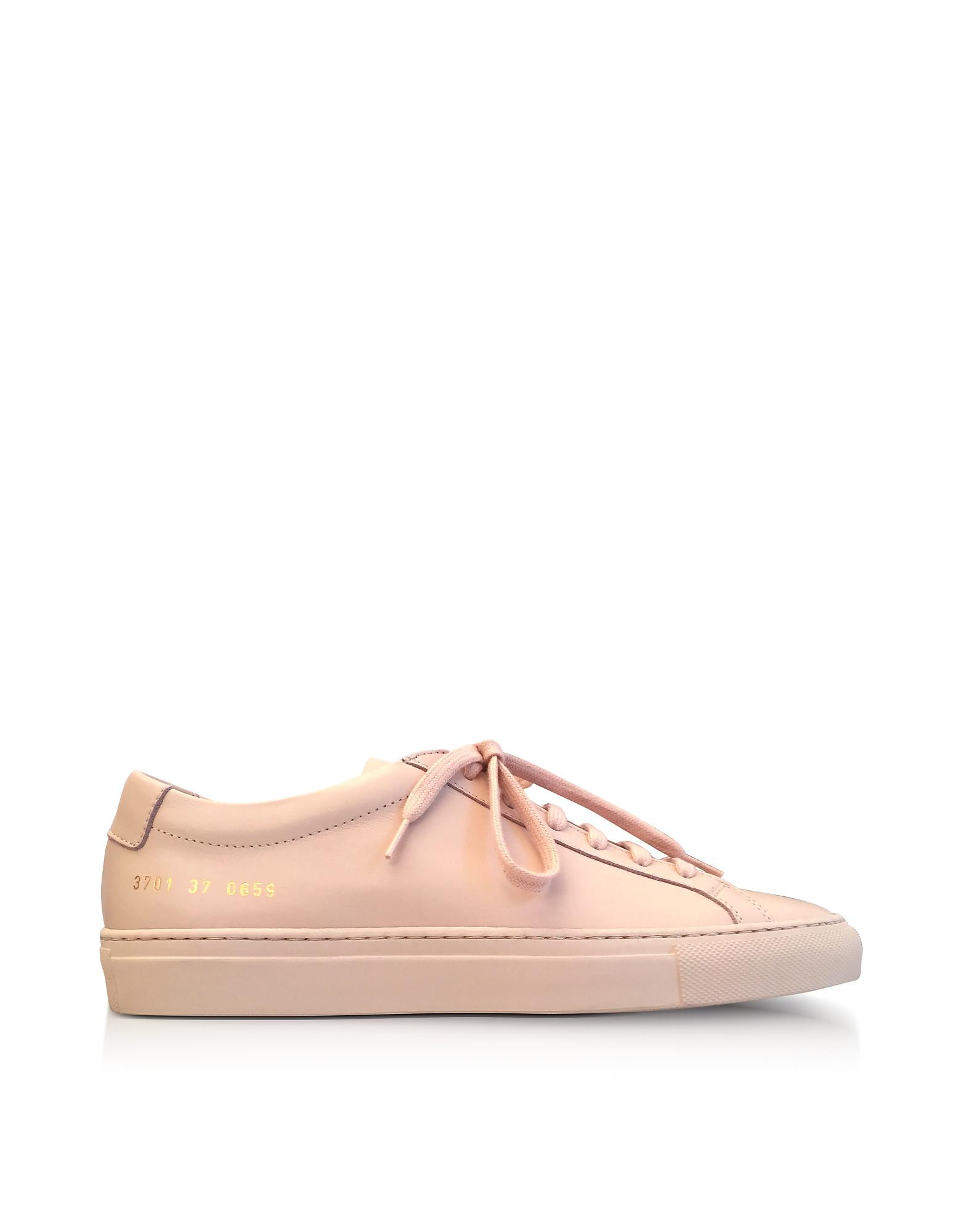 3065a0ff8ded Lyst - Common Projects Nude Leather Achilles Original Low Top ...
