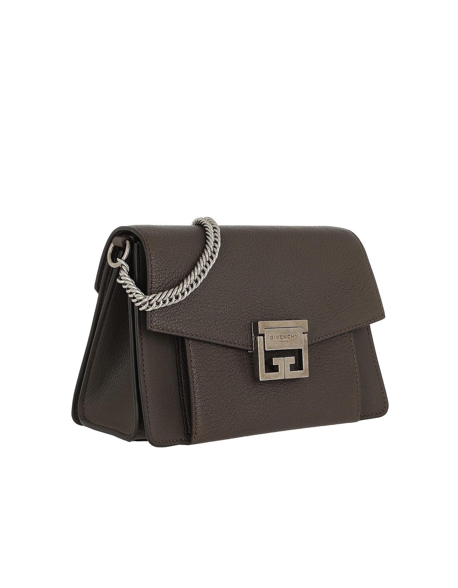 Lyst - Givenchy Gv3 Nano Crossbody Bag Leather Grey in Gray ca77d9c09f480