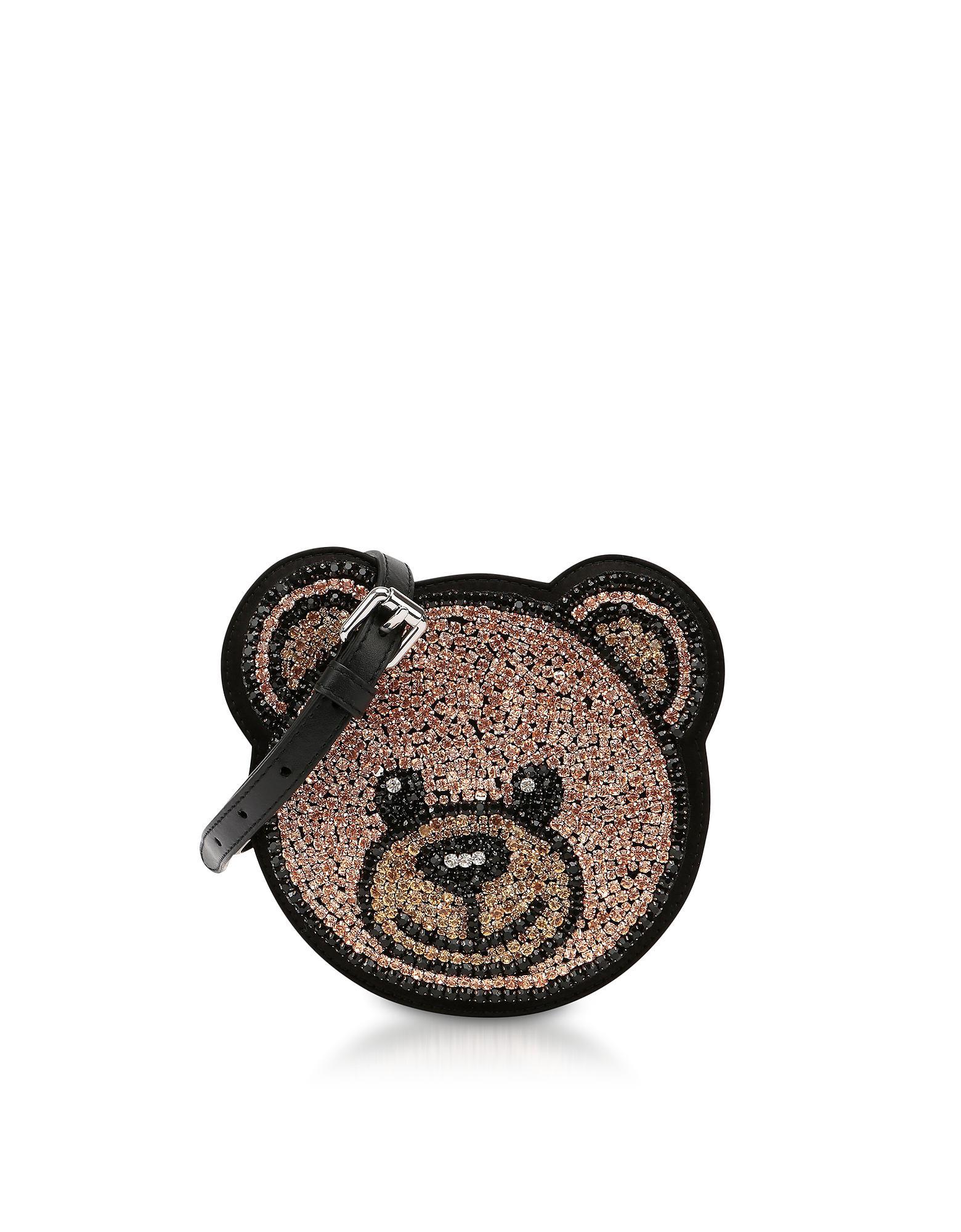 Brown Round Save 76923076923077 Moschino Bear Crossbody Teddy Bag Crystals 60 in Lyst w68ITq