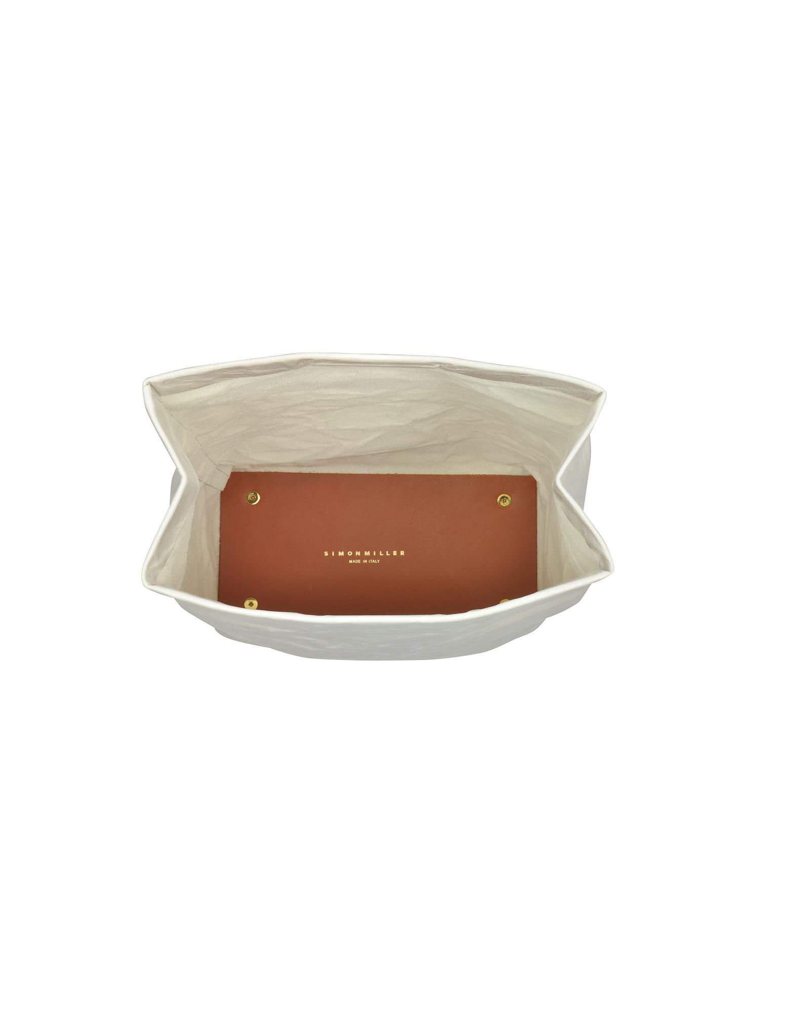 Lyst - Simon Miller S809 Cliff Leather 20 Cm Lunch Bag in Gray adfd18b58a4a3