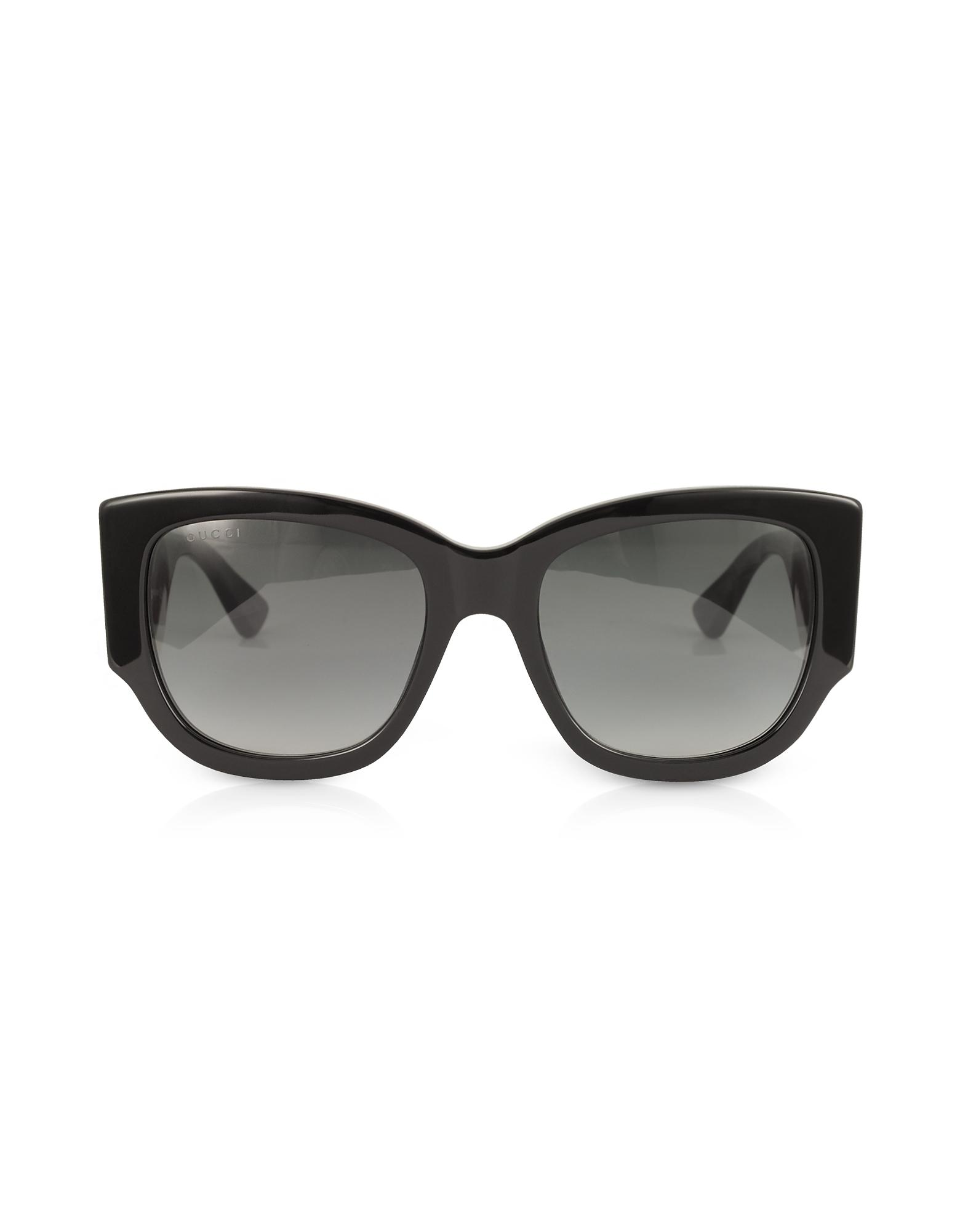 542cbefef7 Gucci - GG0276S Black Oversize Cat Eye Acetate Sunglasses W sylvie Web  Temples - Lyst. View fullscreen