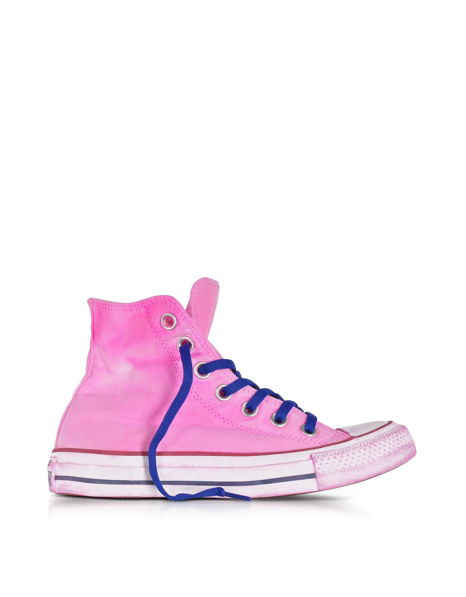 1dda81176692 Lyst - Converse Chuck Taylor All Star Hi Neon Fuchsia Canvas Ltd ...