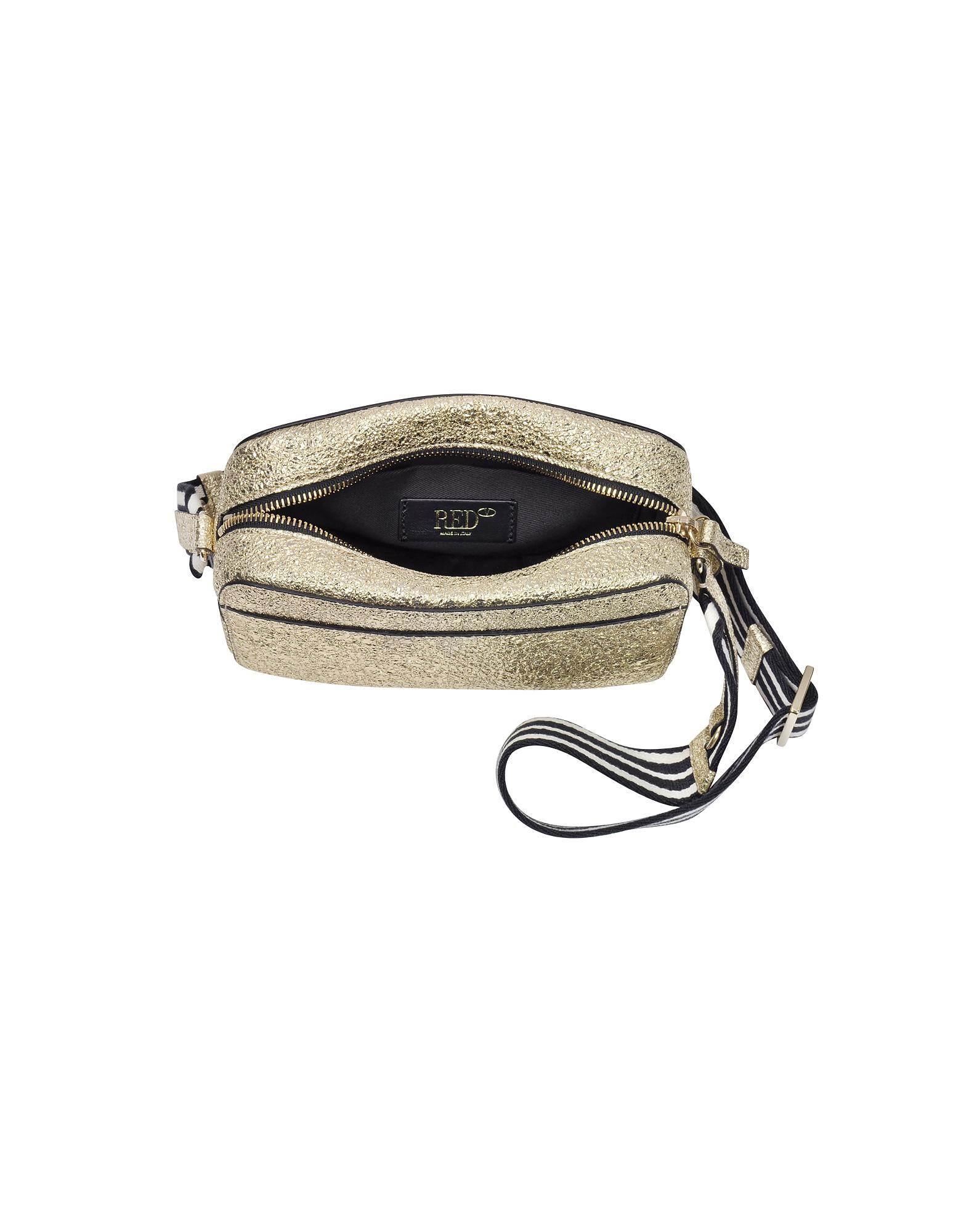 a052b58d0 RED Valentino Gold Leather Shoulder Bag in Metallic - Lyst