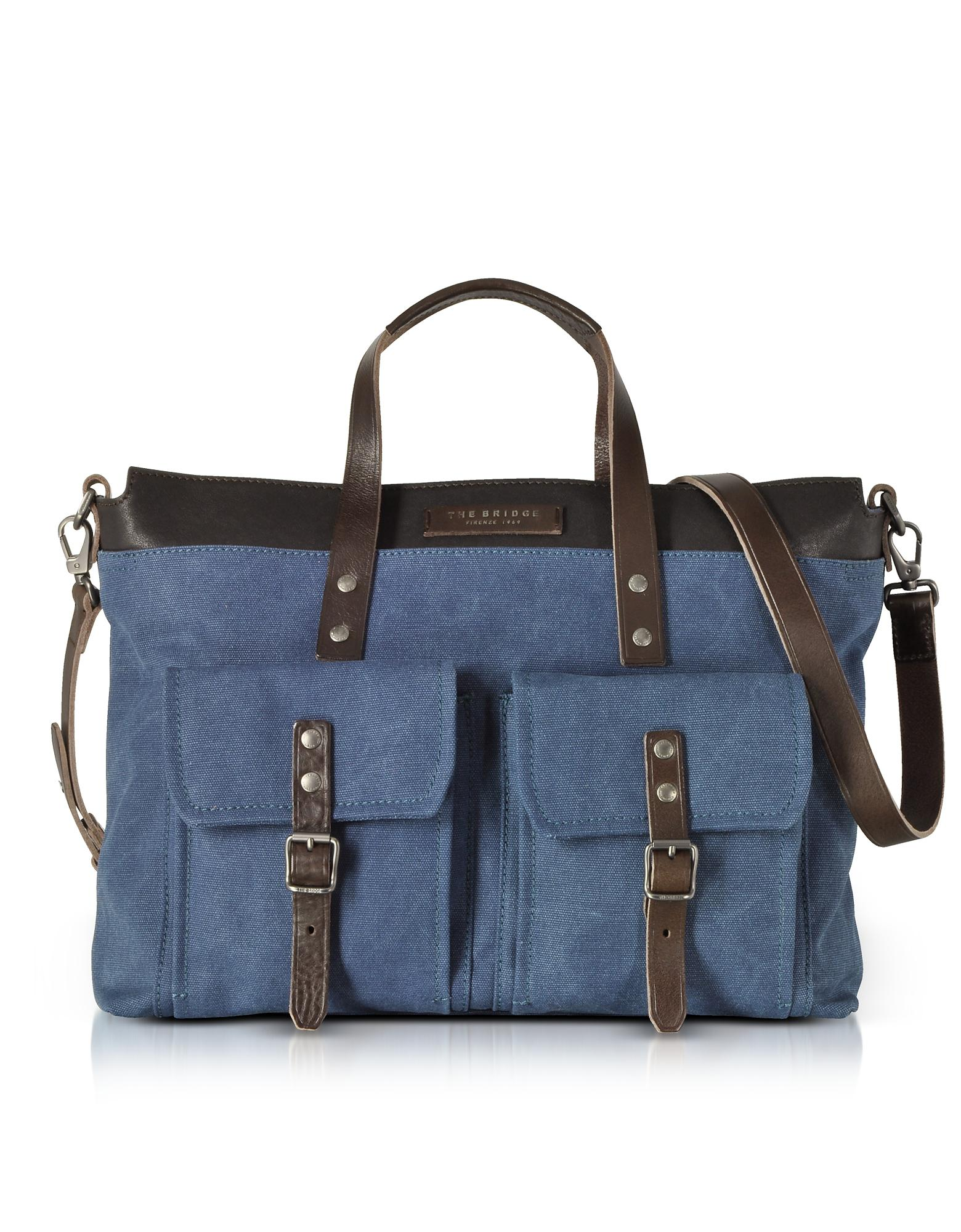 eb1c5e1eb3 Lyst - The Bridge Carver-d Canvas And Leather Men s Tote Bag in Blue
