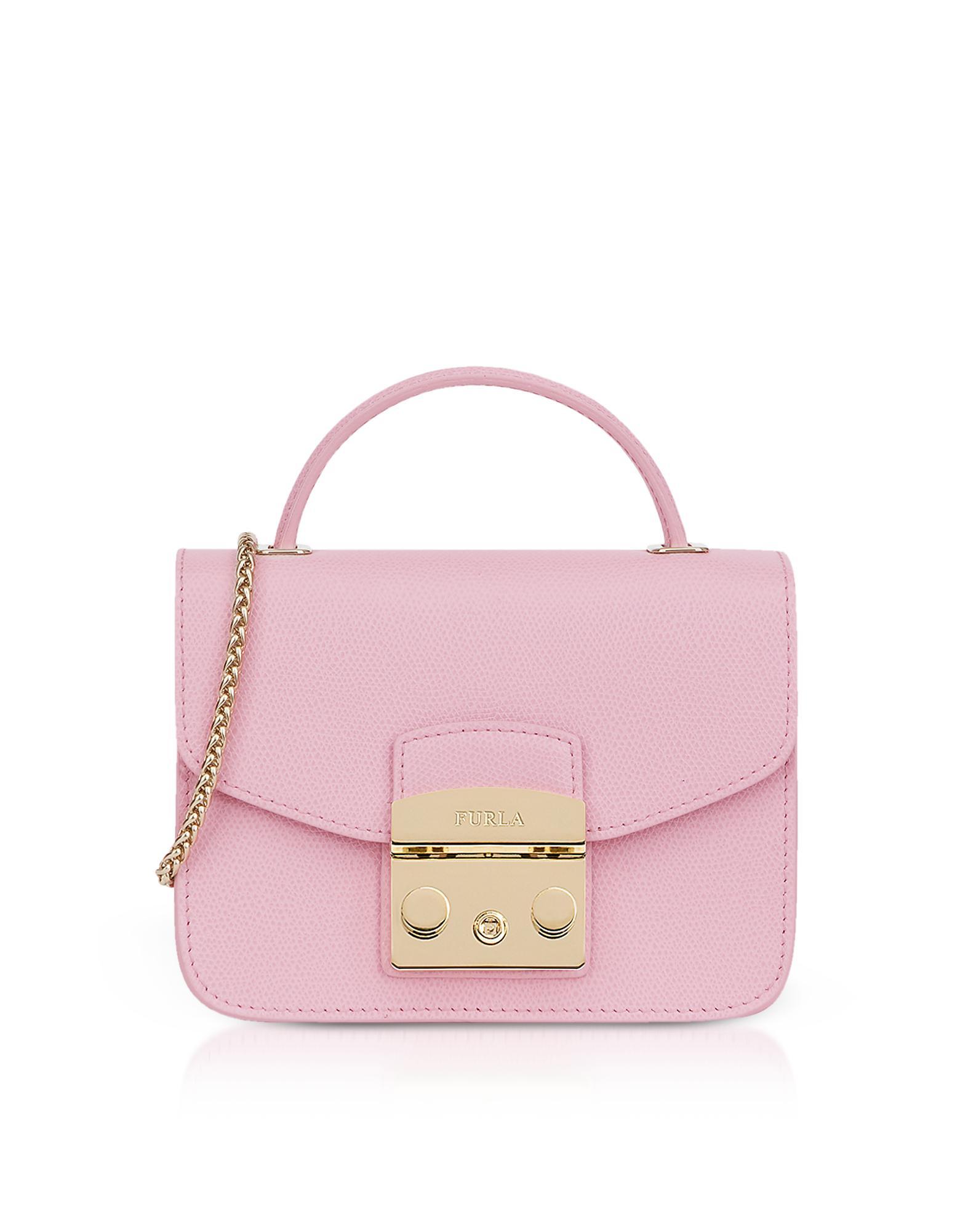 5da4acb4b19 Furla Metropolis Mini Top Handle Crossbody Bag in Pink - Lyst