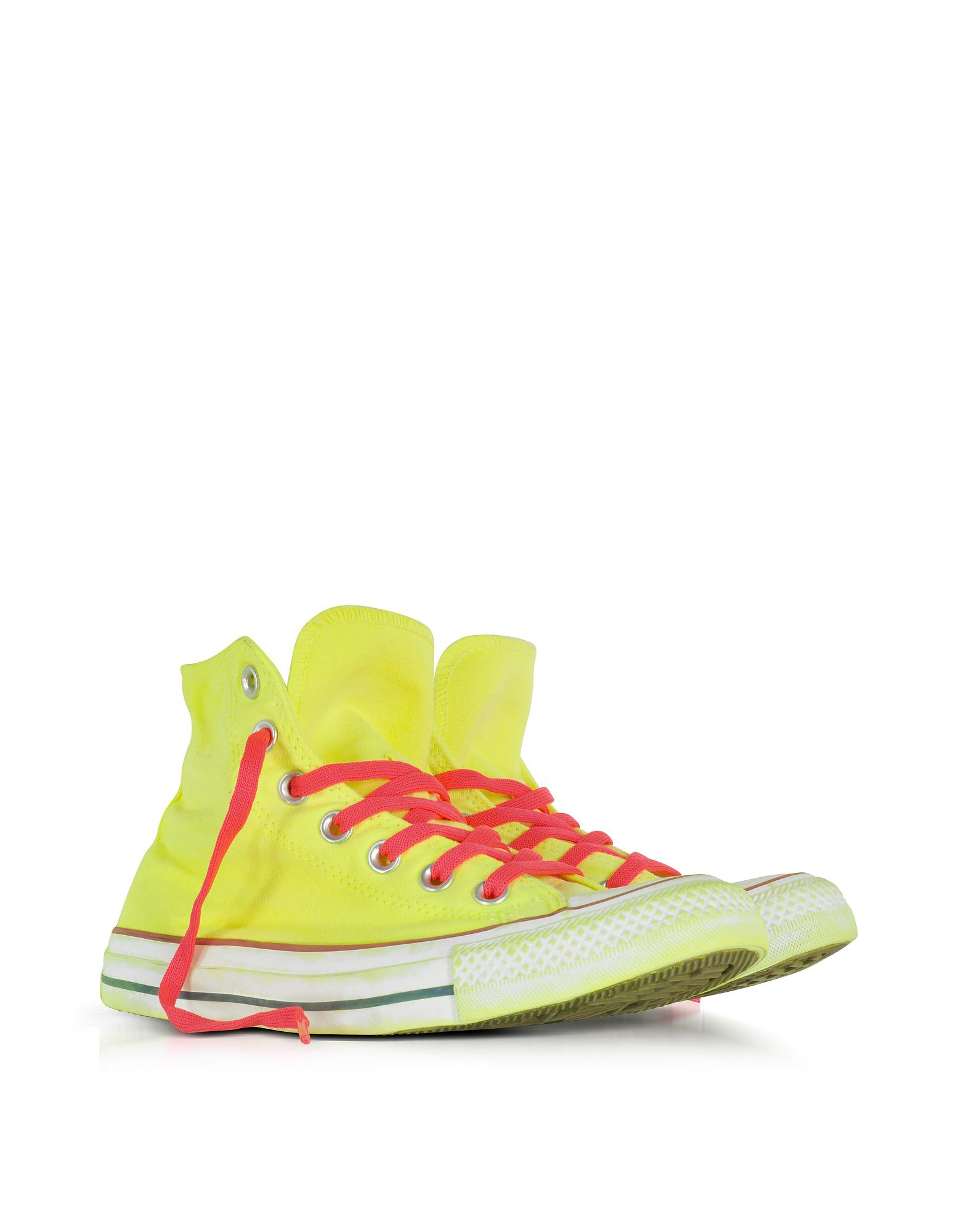 d8976ac81cdc Lyst converse chuck taylor all star hi neon yellow canvas sneakers in  yellow jpg 1560x2000 Lime