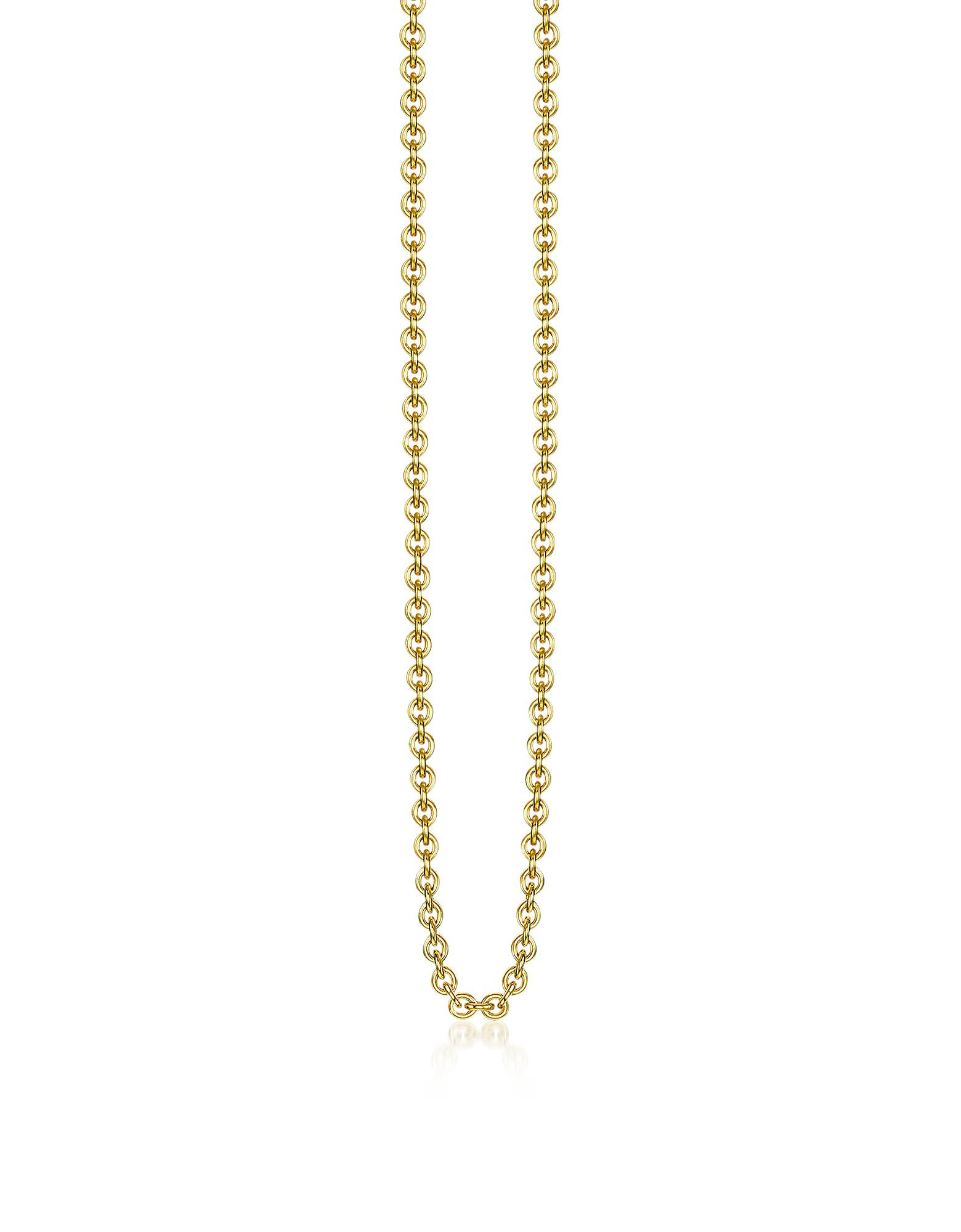 Lyst thomas sabo gold plated sterling silver anchor chain necklace thomas sabo aloadofball Images