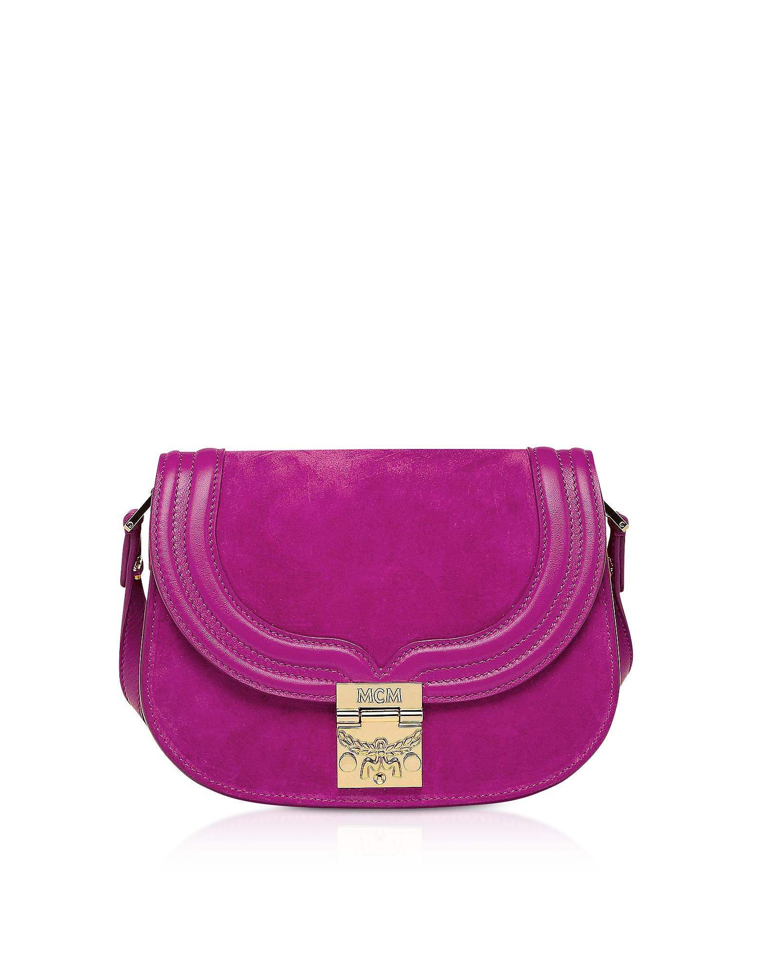 61dcc06723b MCM - Purple Trisha Viva Lilac Suede And Leather Small Shoulder Bag - Lyst.  View fullscreen
