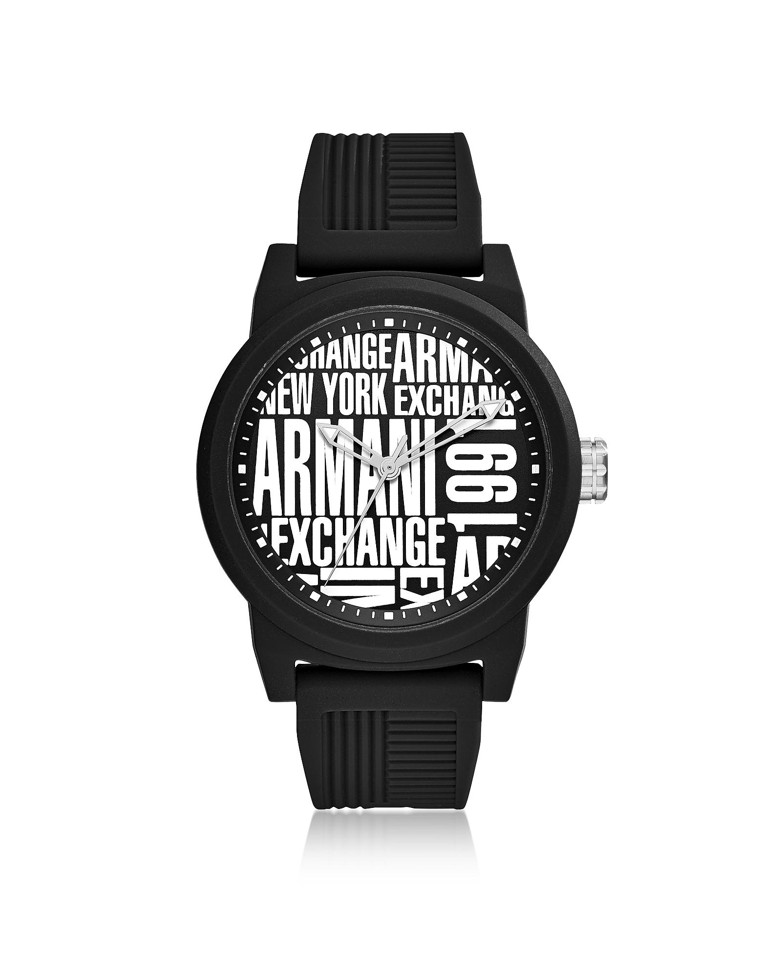 27f25550d Armani Exchange Atlc Black Silicone Men's Watch in Black for Men - Lyst