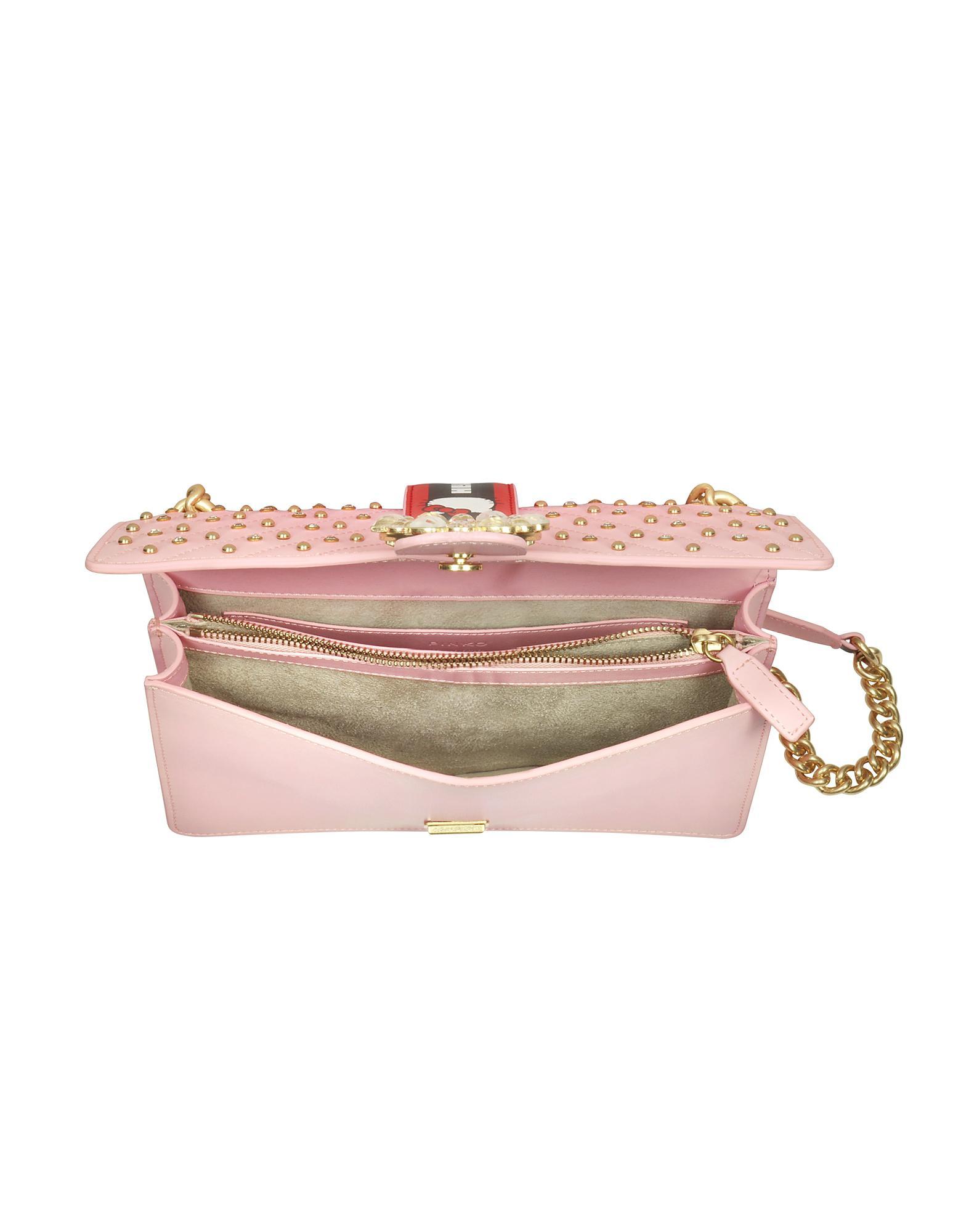 b982f2b7c5db Pinko Love Hello Kitty Jewel Pink Eco Leather Shoulder Bag in Pink ...