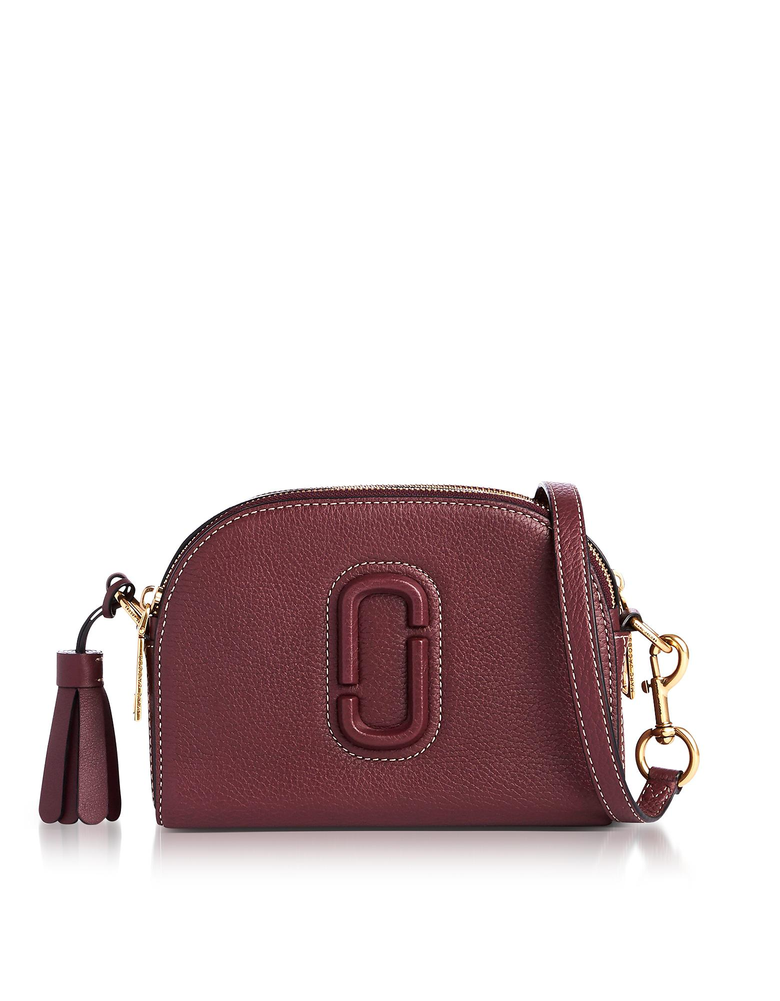 e651df46caf6 Lyst - Marc Jacobs Shutter Blackberry Leather Small Camera Bag in Purple