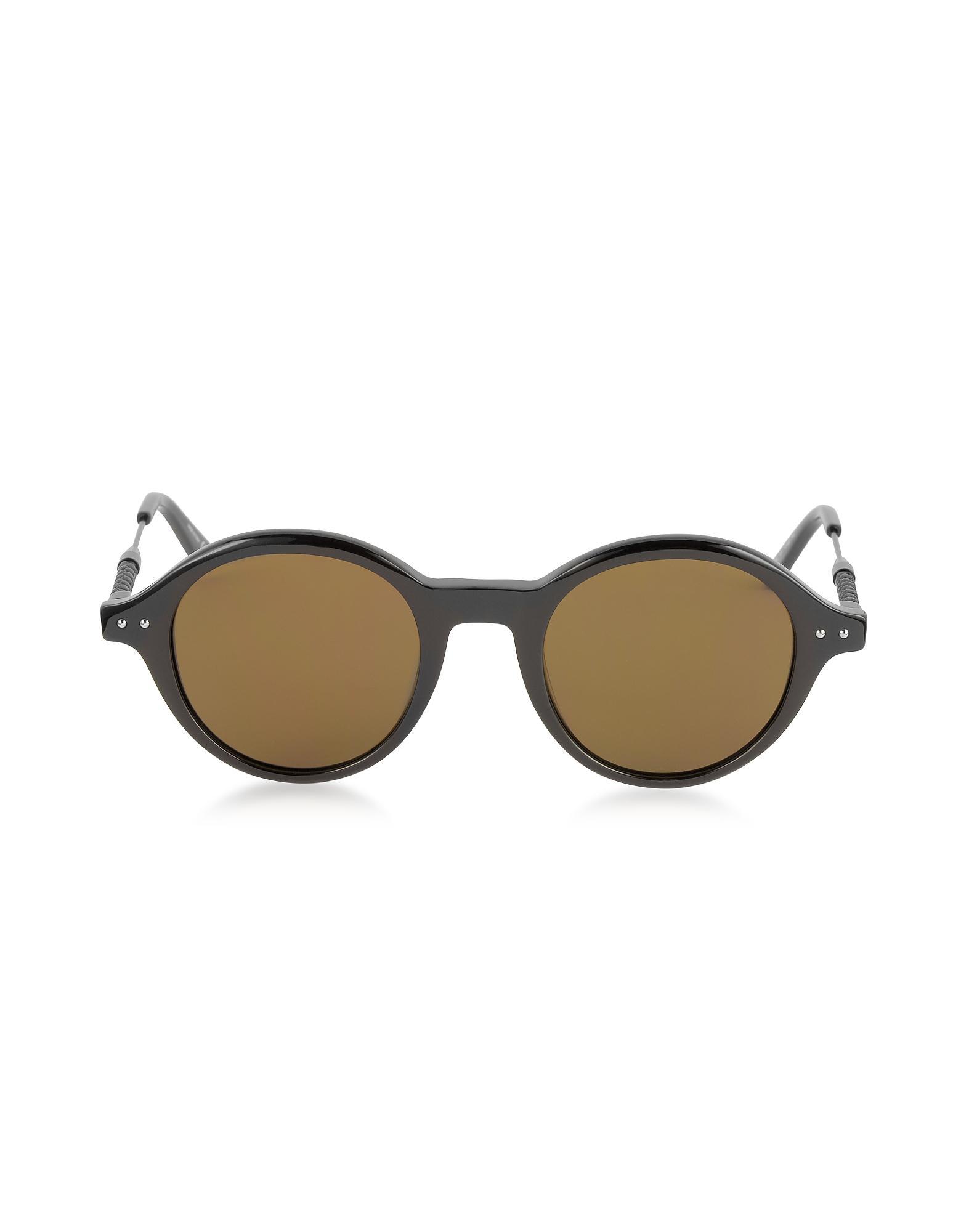 Bottega Veneta Round-frame Tortoiseshell Acetate Sunglasses - Tortoiseshell aWHTdT