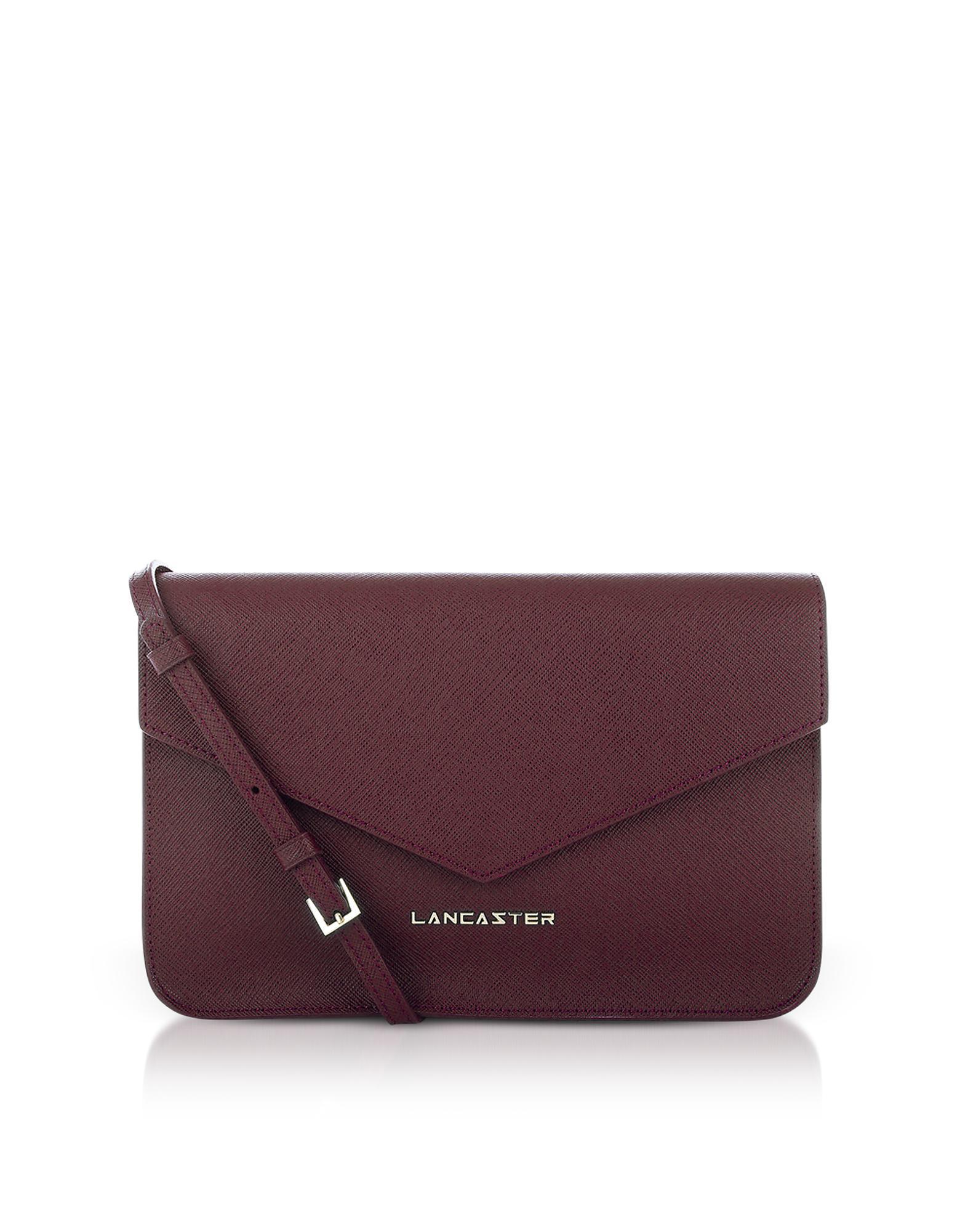 Lyst - Lancaster Paris Bordeaux Saffiano Signature Flap Clutch W ... bcf72f8cd5