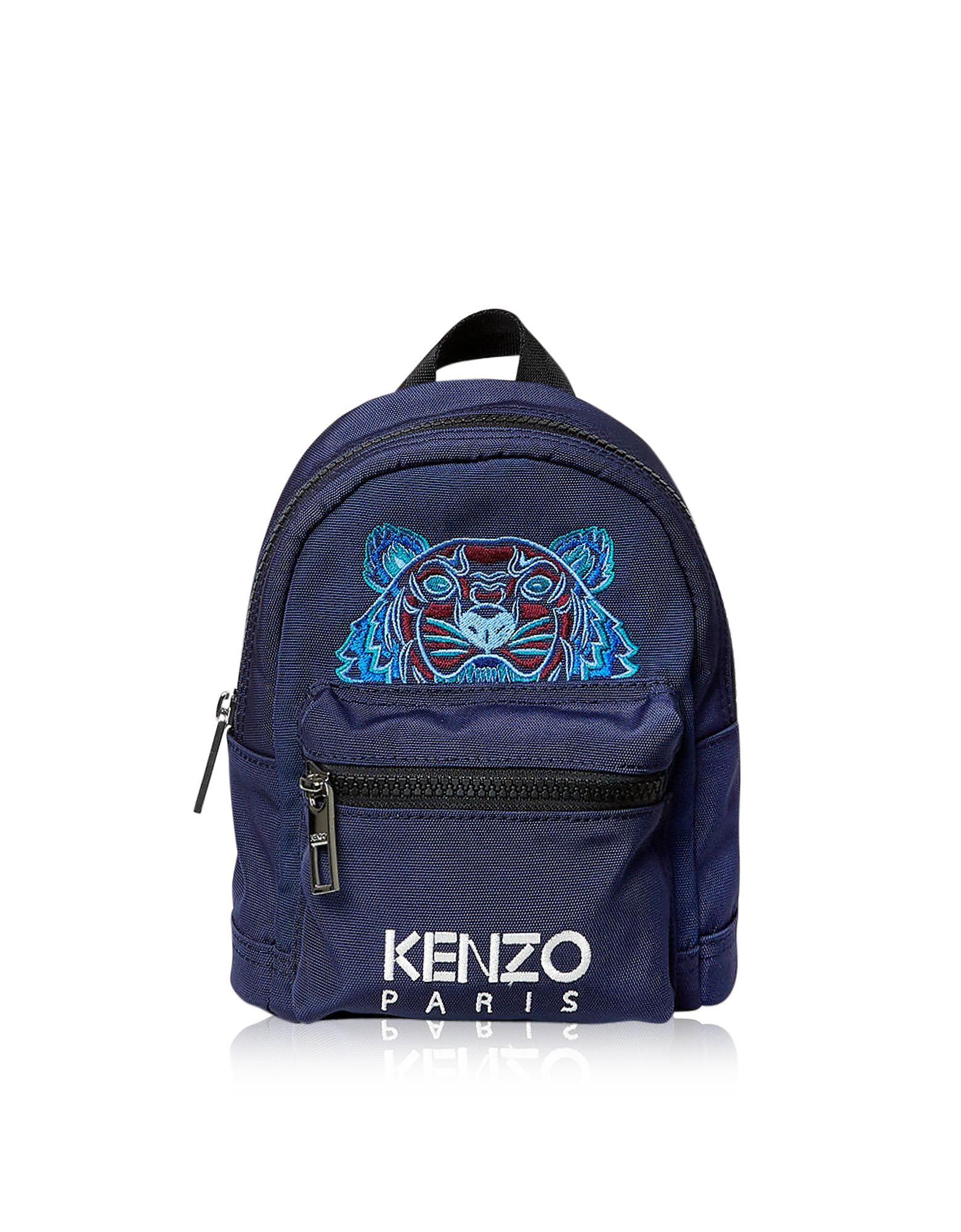 1e866a9db449 KENZO Mini Tiger Canvas Backpack in Blue for Men - Lyst