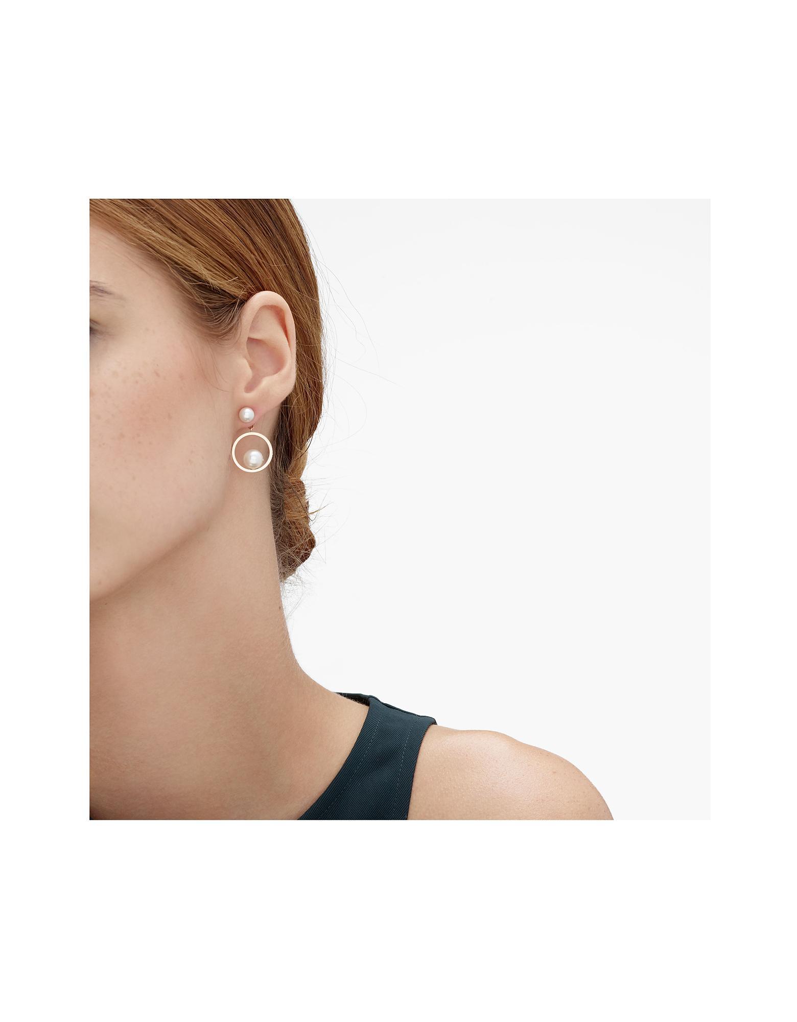 1b32488a0 Skagen Agnethe Rose Gold-tone Pearl Drop Earrings - Lyst