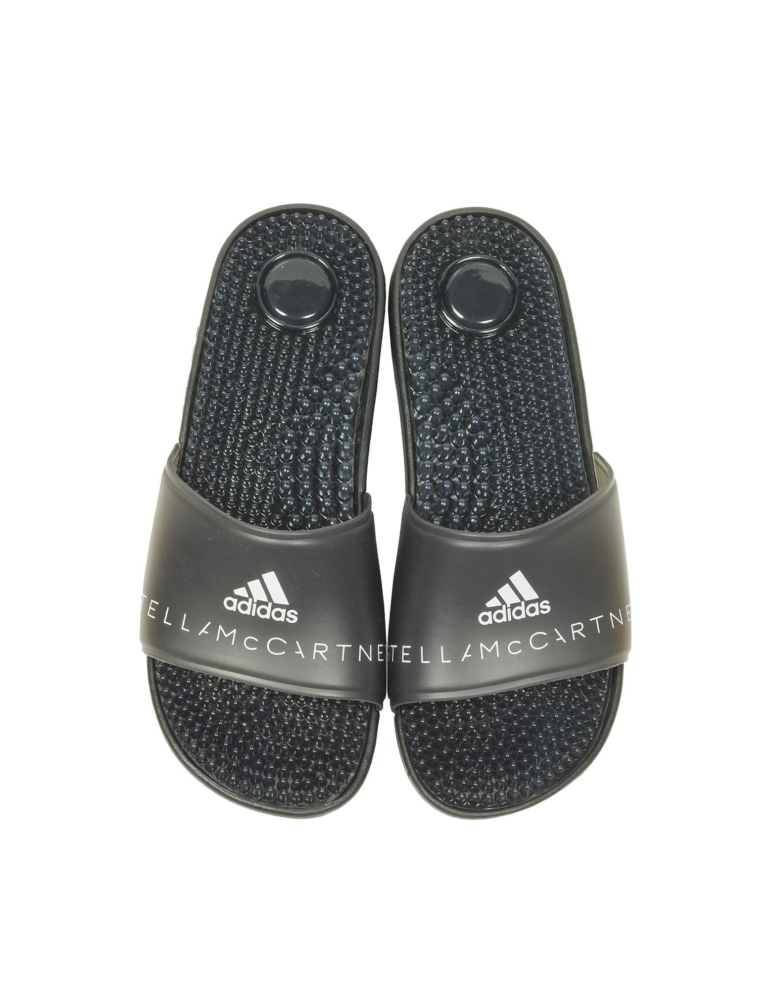 801f945db10e Lyst - adidas By Stella McCartney Adissage Slides in Black - Save 17%