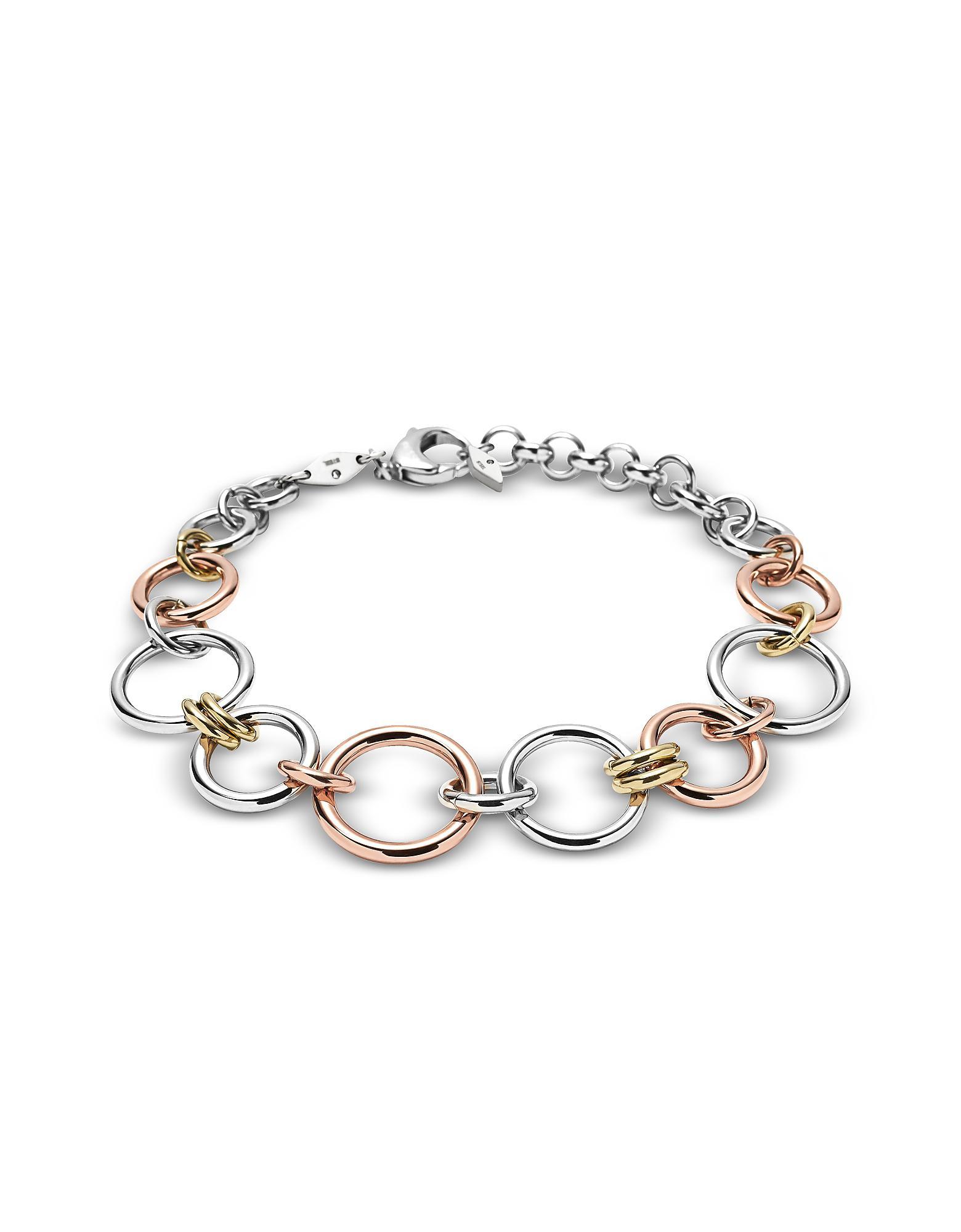 Fossil Women's Silver Bracelet JF01821998 tpnVT