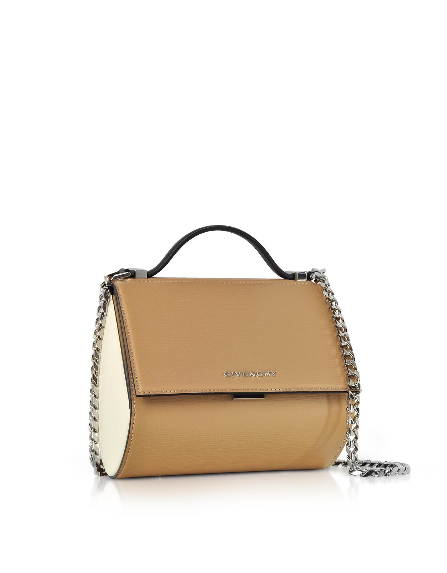 Givenchy Light Beige Pandora Box Crossbody Bag in Natural - Lyst 7620b062d30d0
