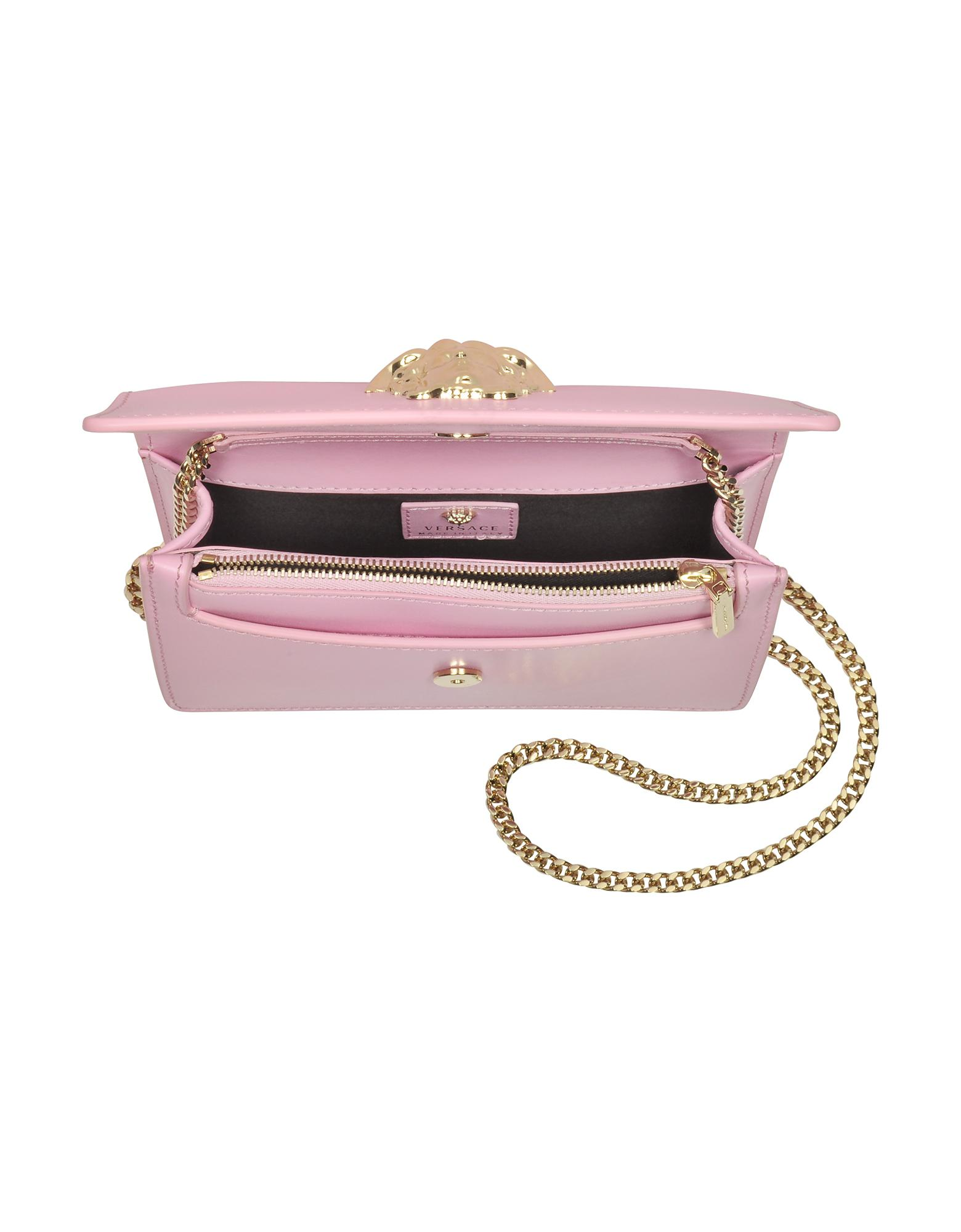 Lyst - Versace Palazzo Pink Leather Small Pouch in Pink d21a835a0cc56