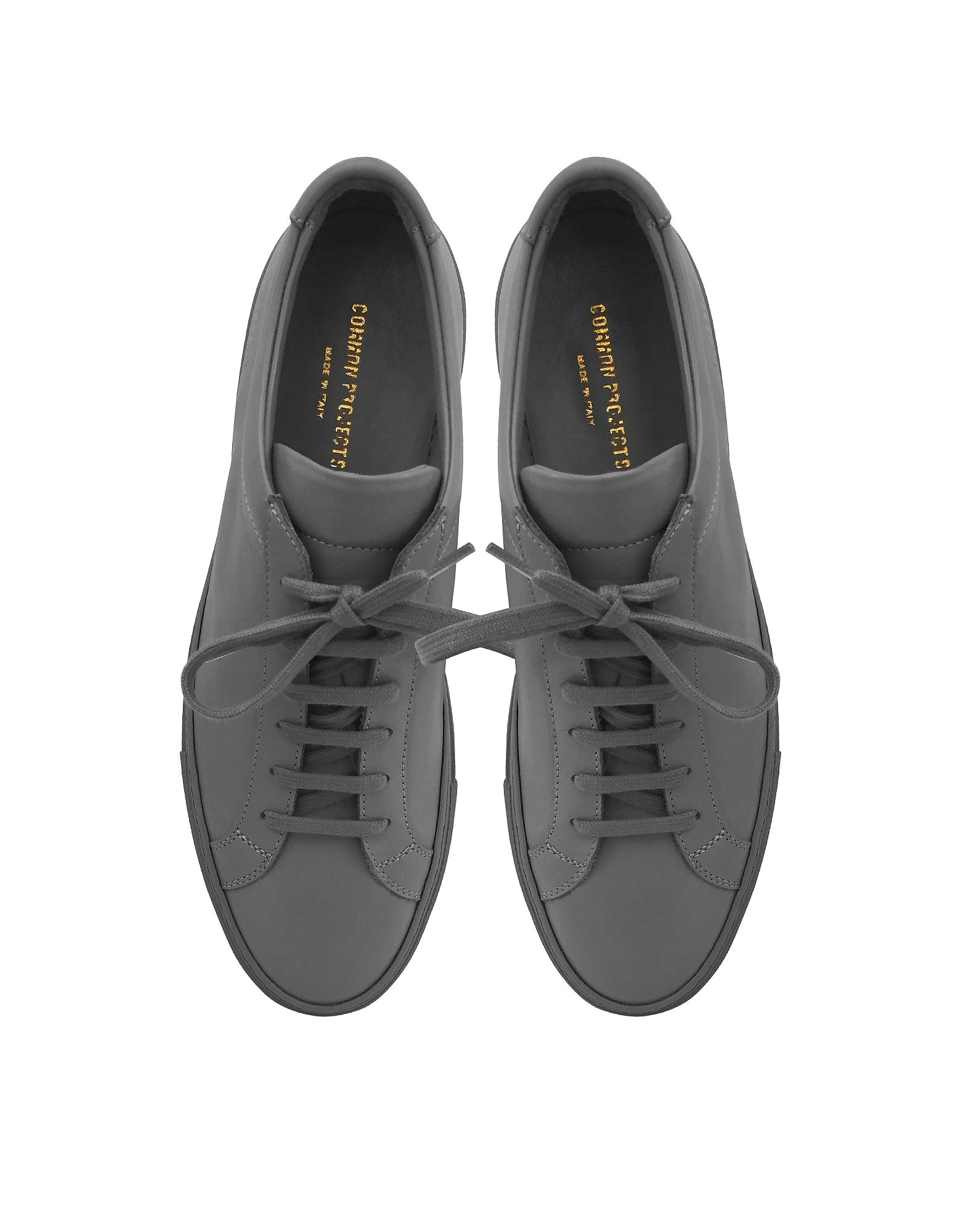 28662402626b Lyst - Common Projects Medim Grey Leather Original Achilles Low ...