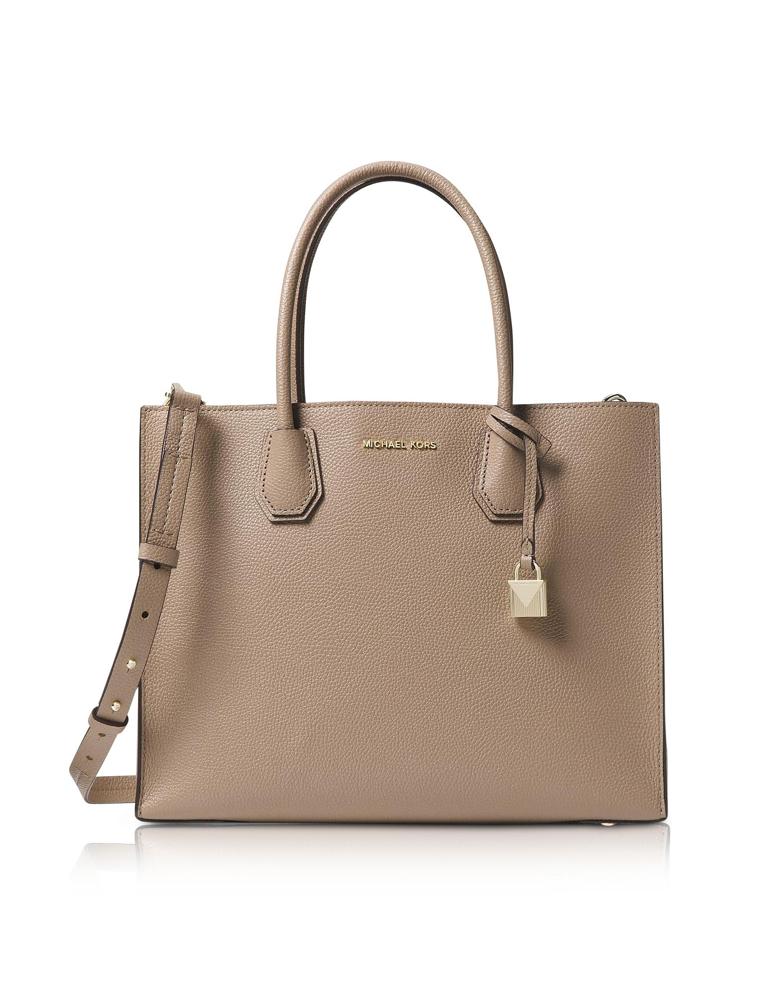 d3af88195bafbe Michael Kors - Natural Truffle Mercer Large Convertible Tote Bag - Lyst.  View fullscreen