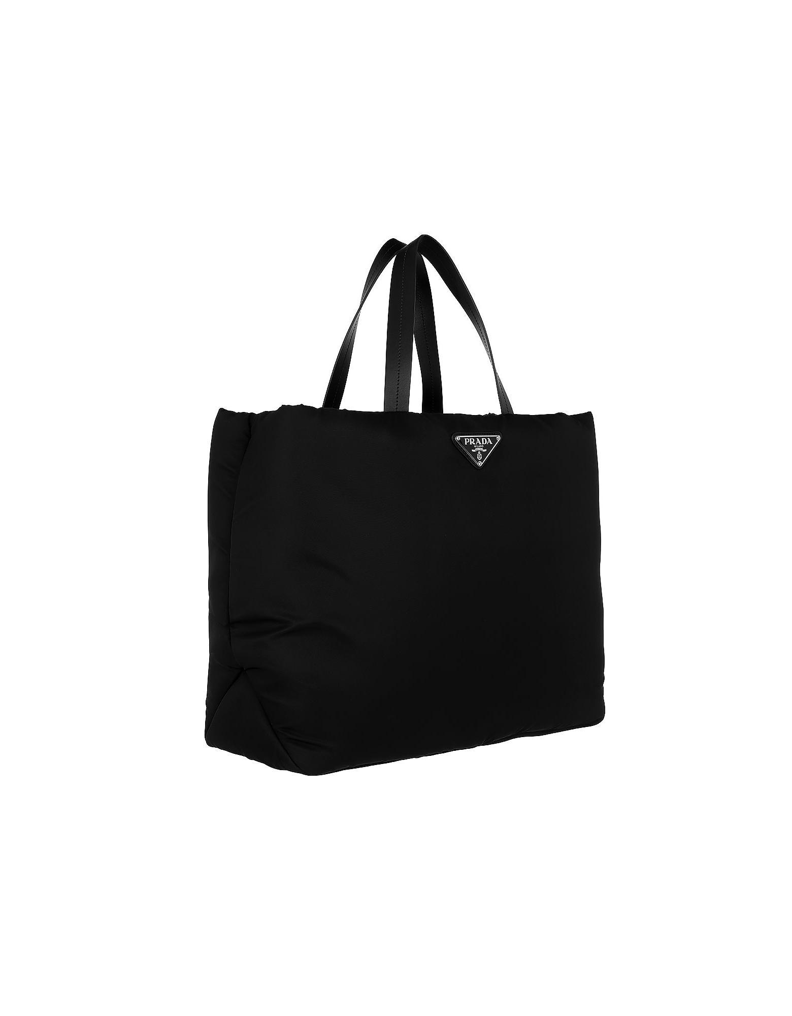 bb4e5bb15c clearance lyst prada tessuto saffiano colour nylon tote in black ...