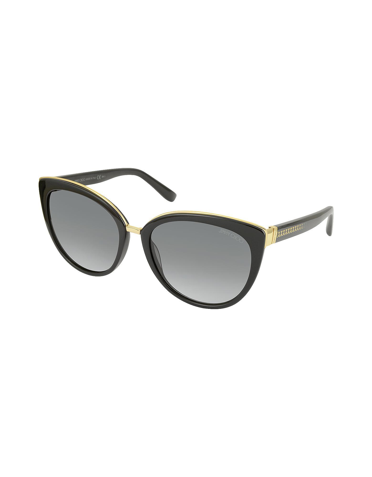 f52f6fa7633 Lyst - Jimmy Choo Dana s Acetate Cat Eye Sunglasses