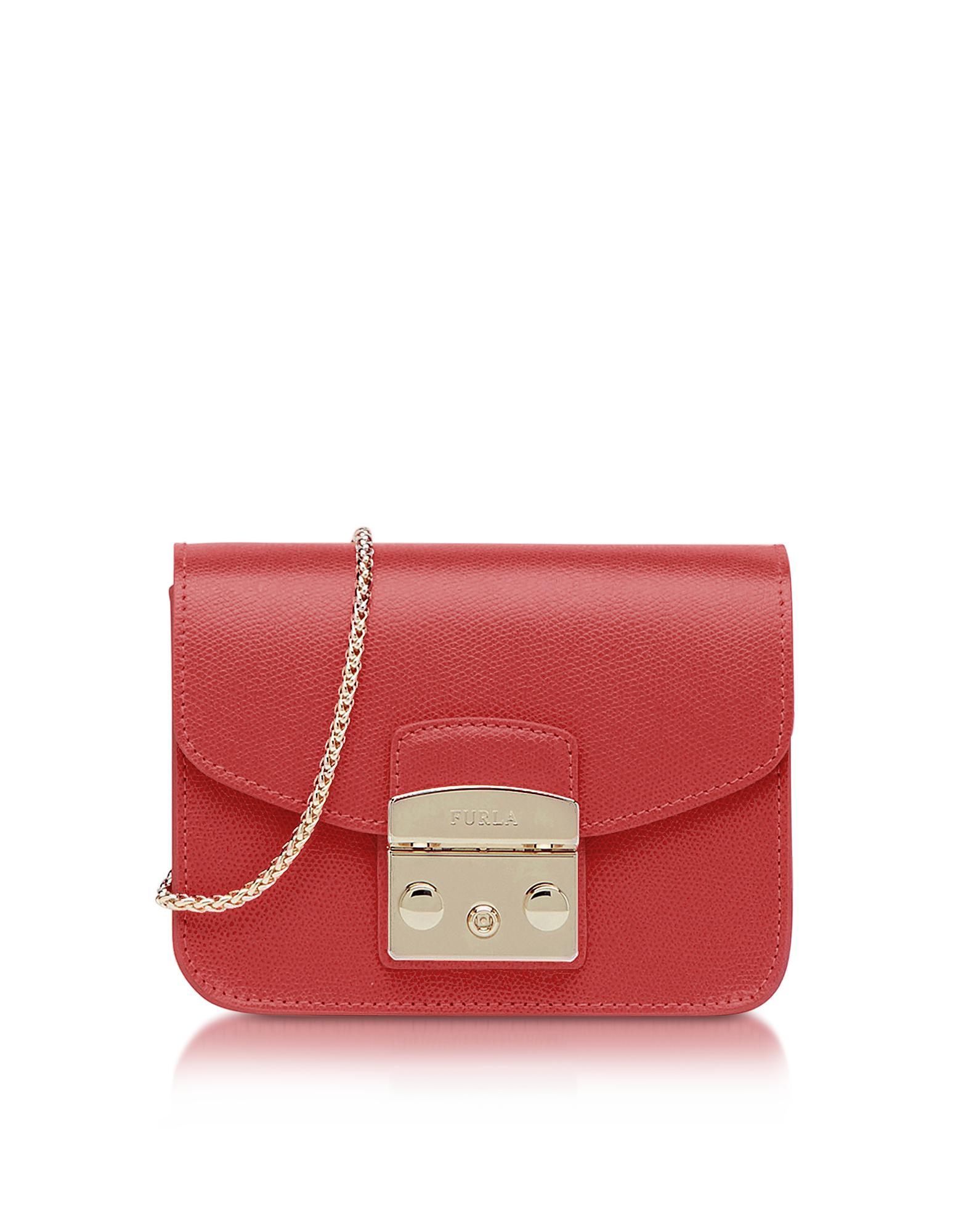 6816a3cfd Furla - Red Ruby Leather Metropolis Mini Crossbody Bag - Lyst. View  fullscreen