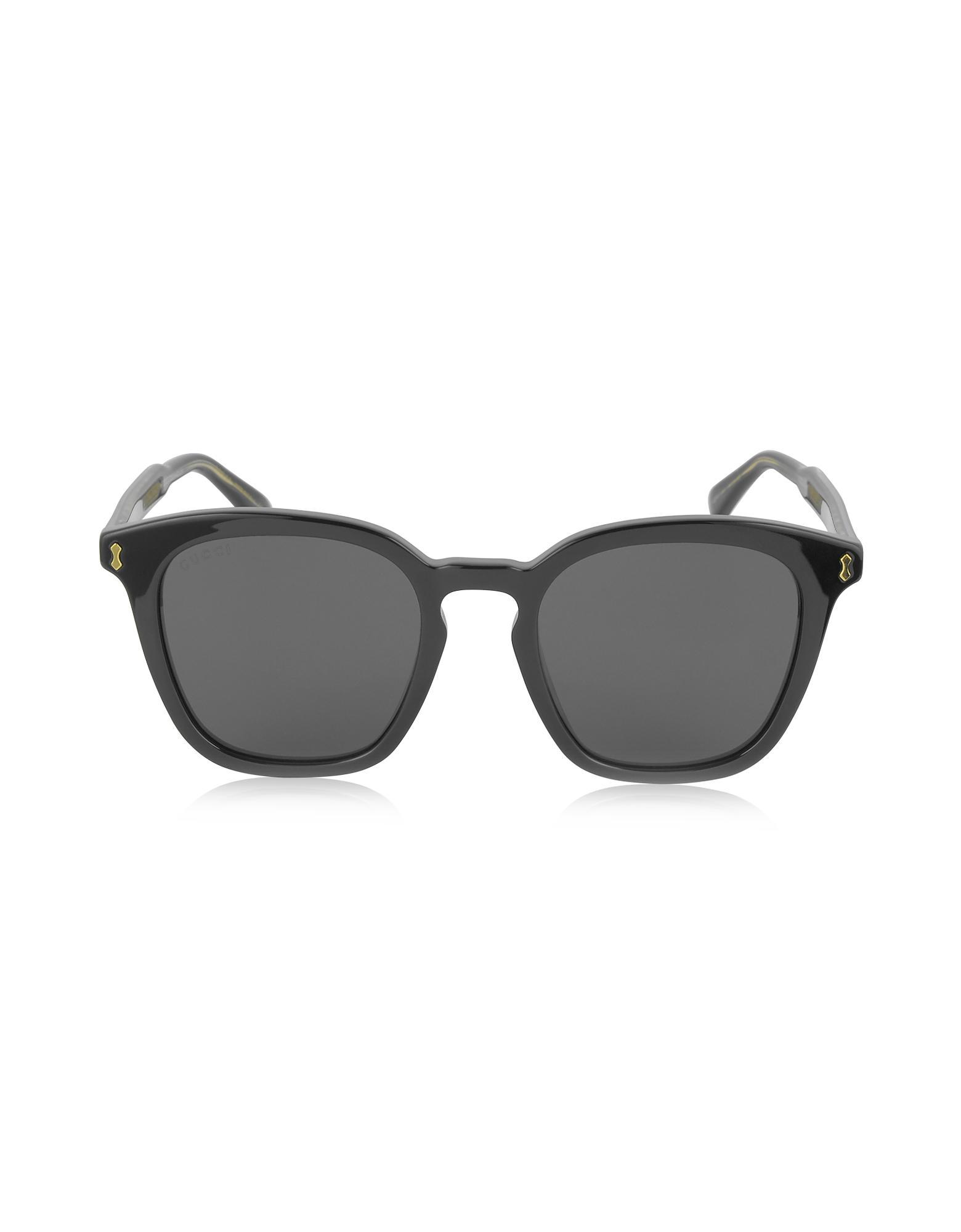 f689cba77db Lyst - Gucci GG0125S Acetate Square Men s Sunglasses in Black for Men