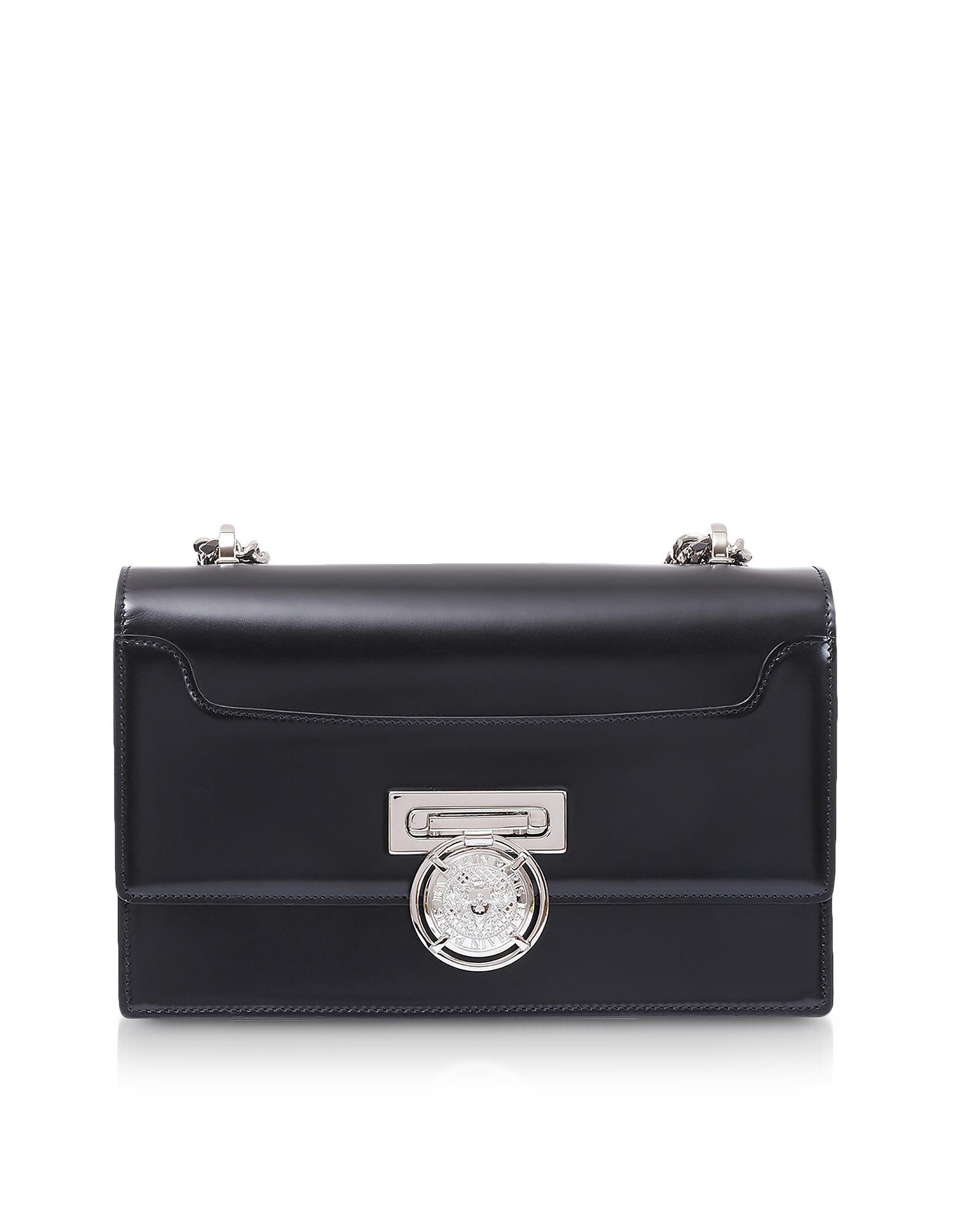 60946a4523 Balmain Black Smooth Leather Bbox 25 Flap Shoulder Bag in Black - Lyst