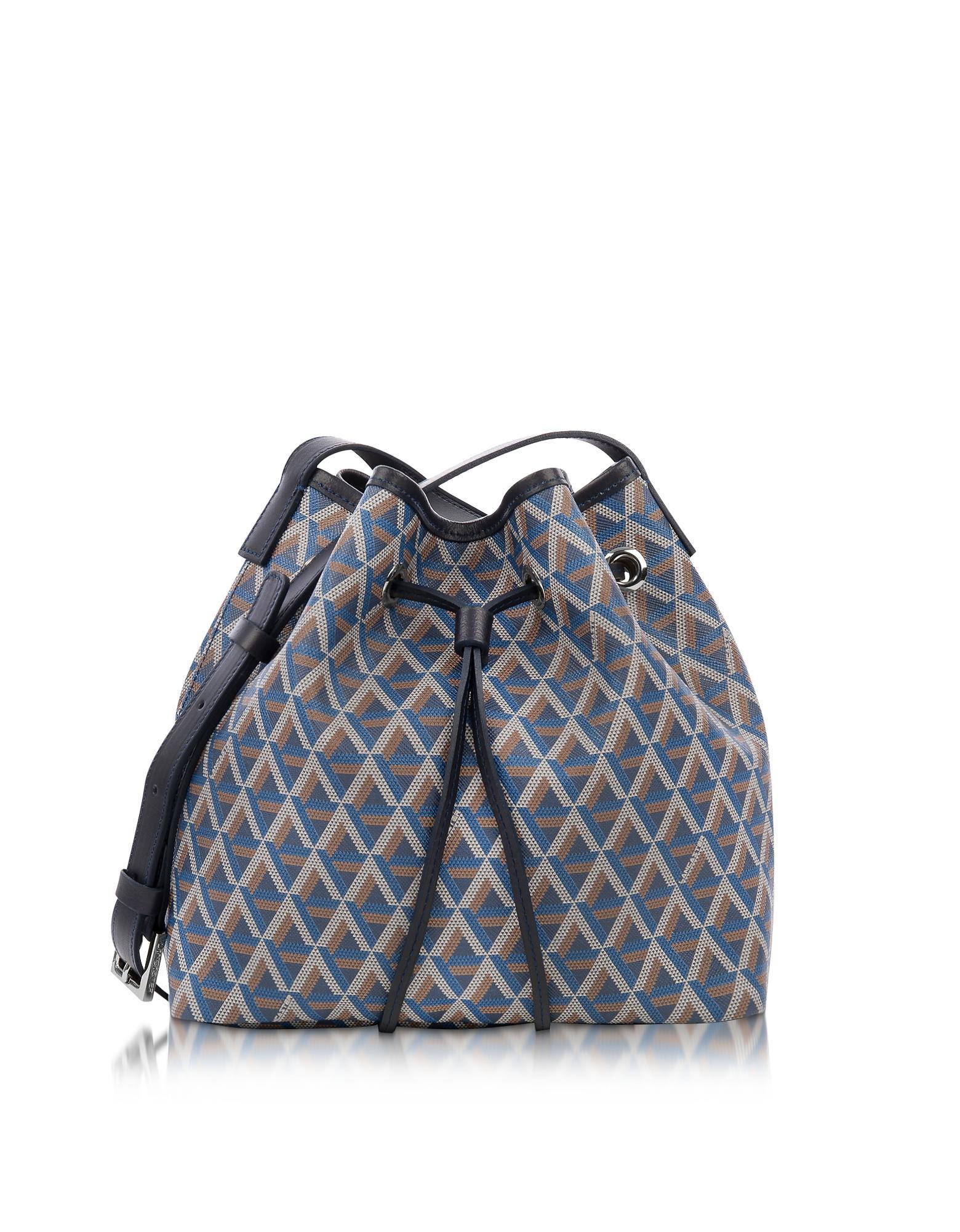 0750fd84ea02 Lancaster Paris Ikon Small Coated Canvas Bucket Bag in Blue - Lyst