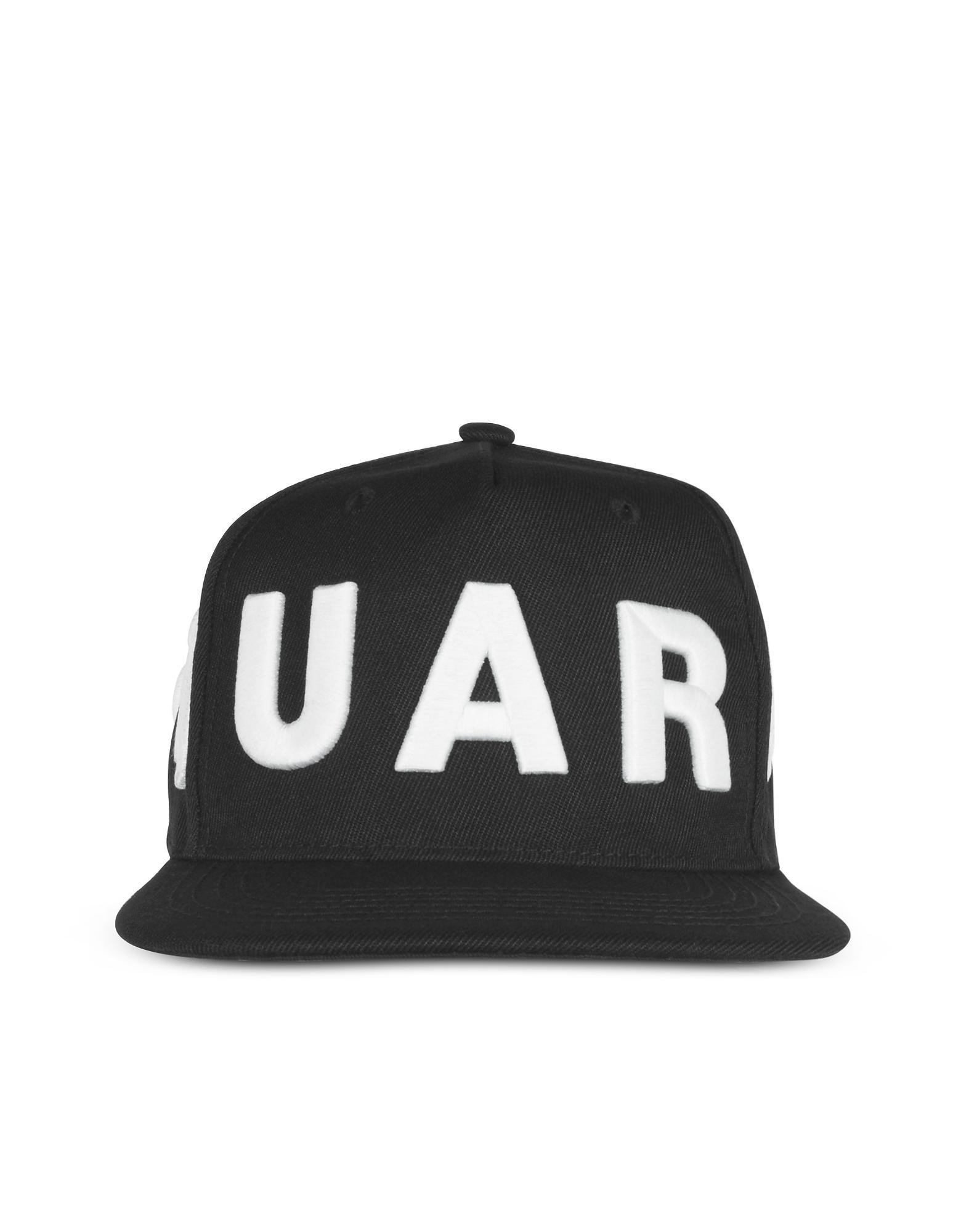 610e7410568e41 DSquared² D2 Black And White Baseball Cap in Black for Men - Lyst