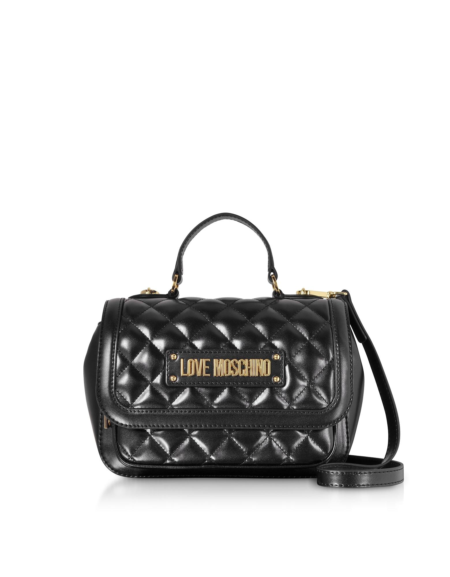 0afc96397621 Love Moschino - Black New Quilted Eco Leather Top Handle - Lyst. View  fullscreen
