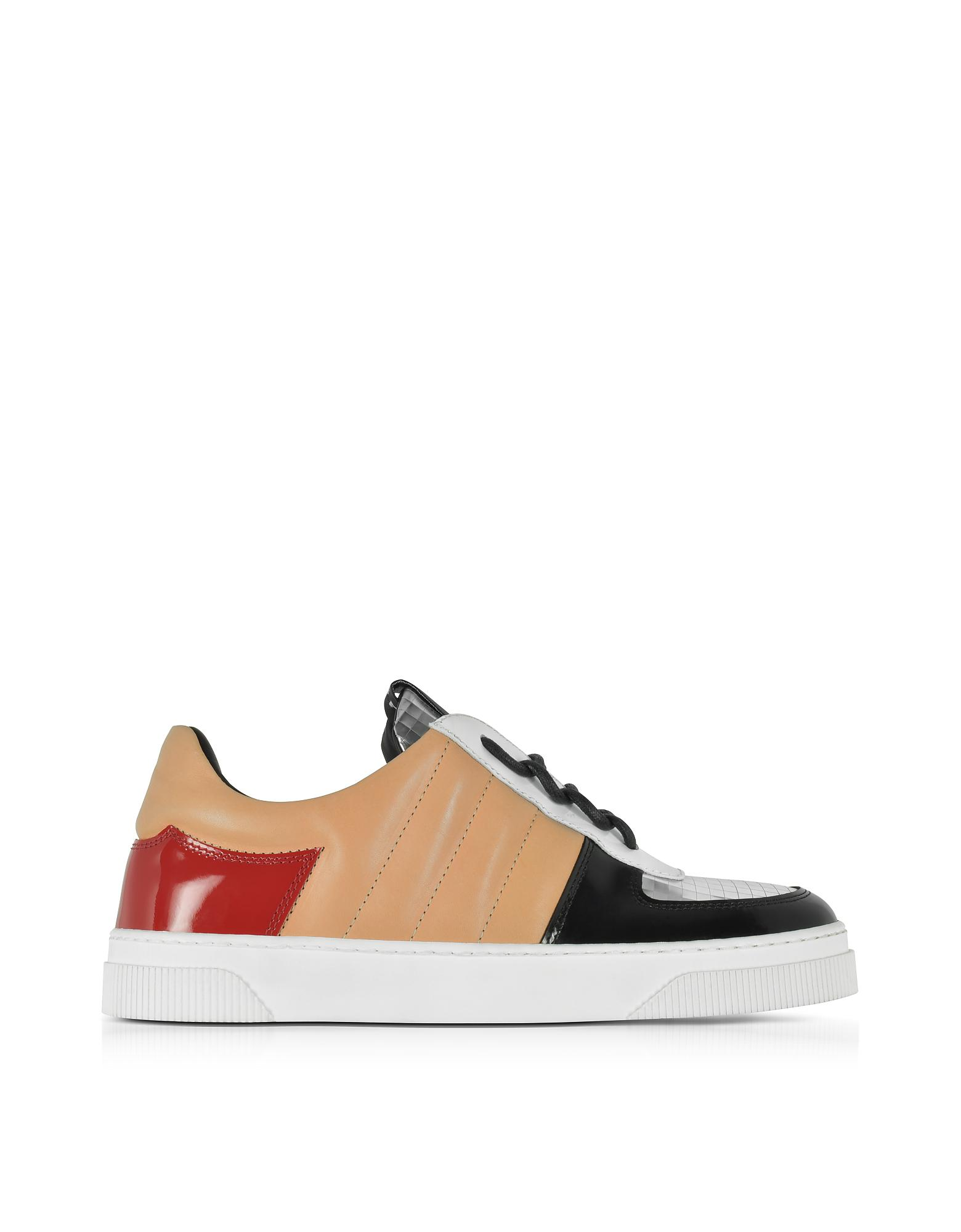 Proenza Schouler Designer Shoes, Light Nappa and Laminated Leather Sneakers