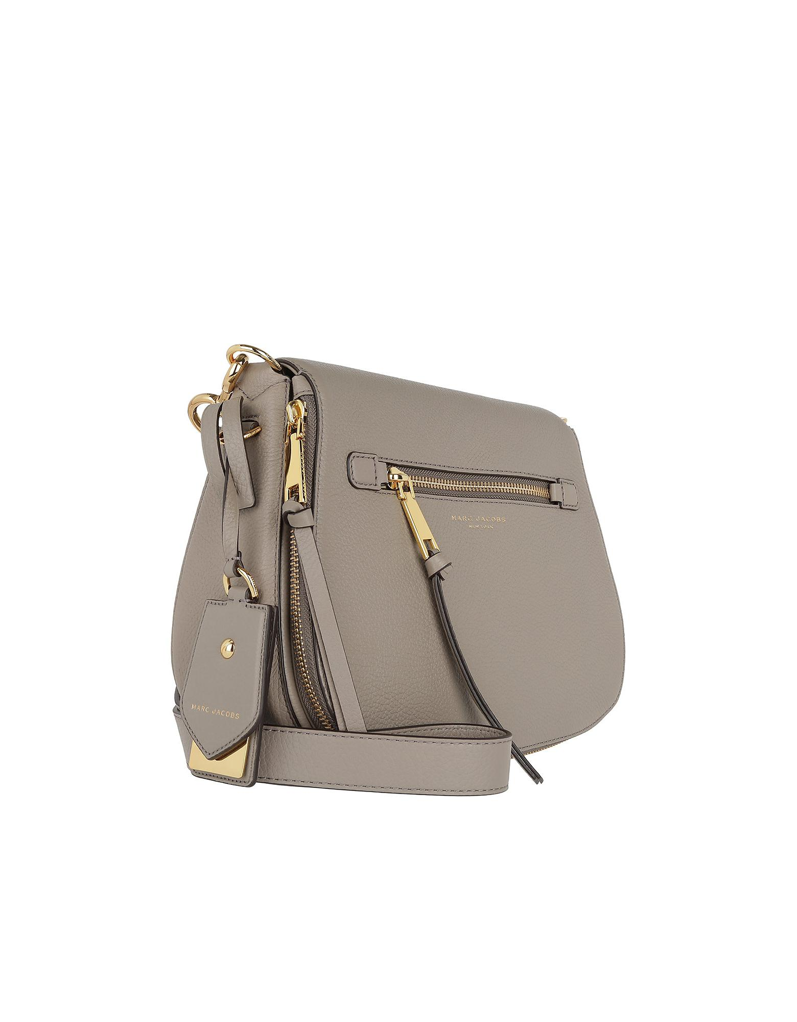 e9262cf1fd Marc Jacobs Recruit Saddle Bag Leather Mink in Gray - Lyst