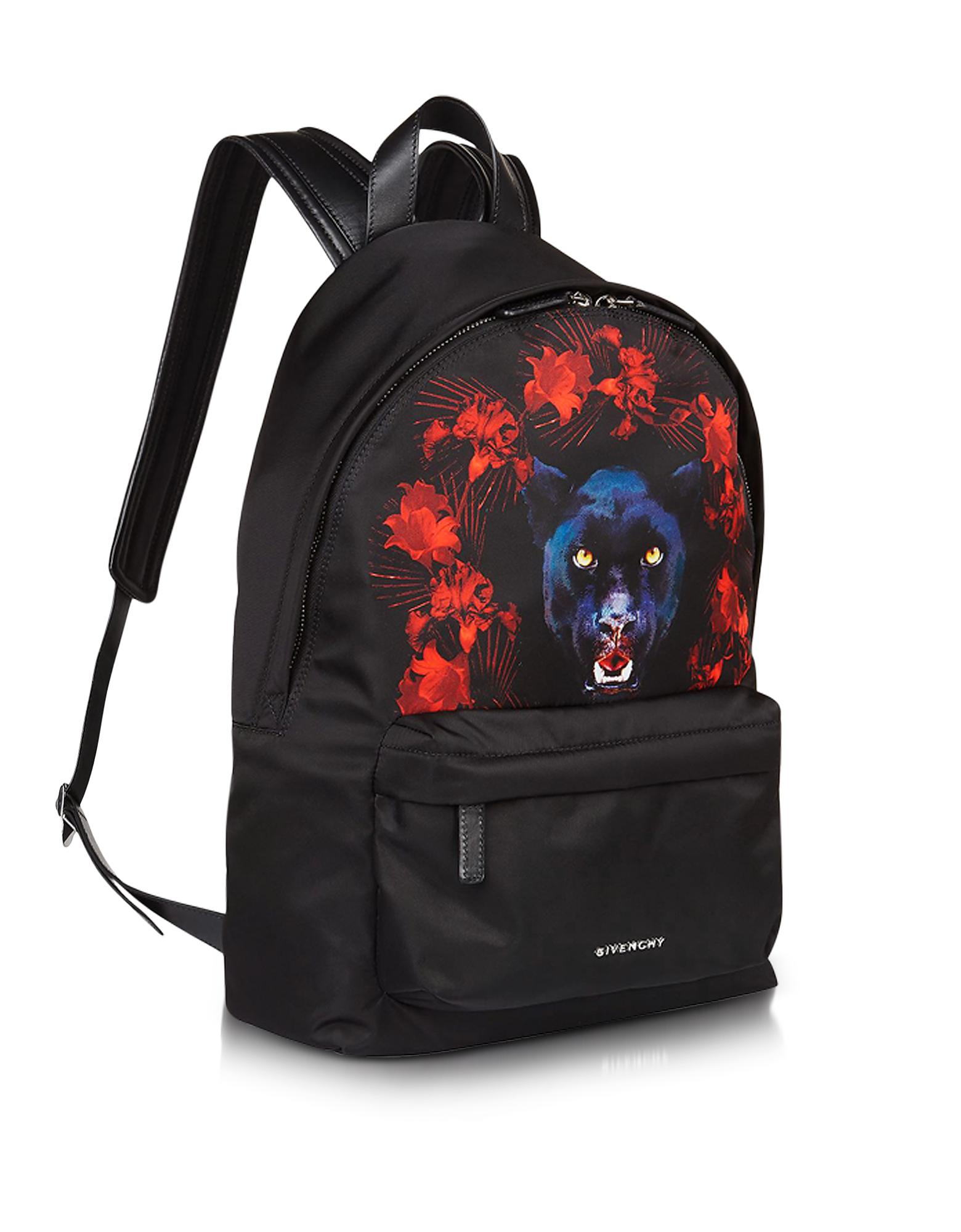 2454068ef858 Lyst - Givenchy Black Nylon Jaguar Printed Small Backpack .