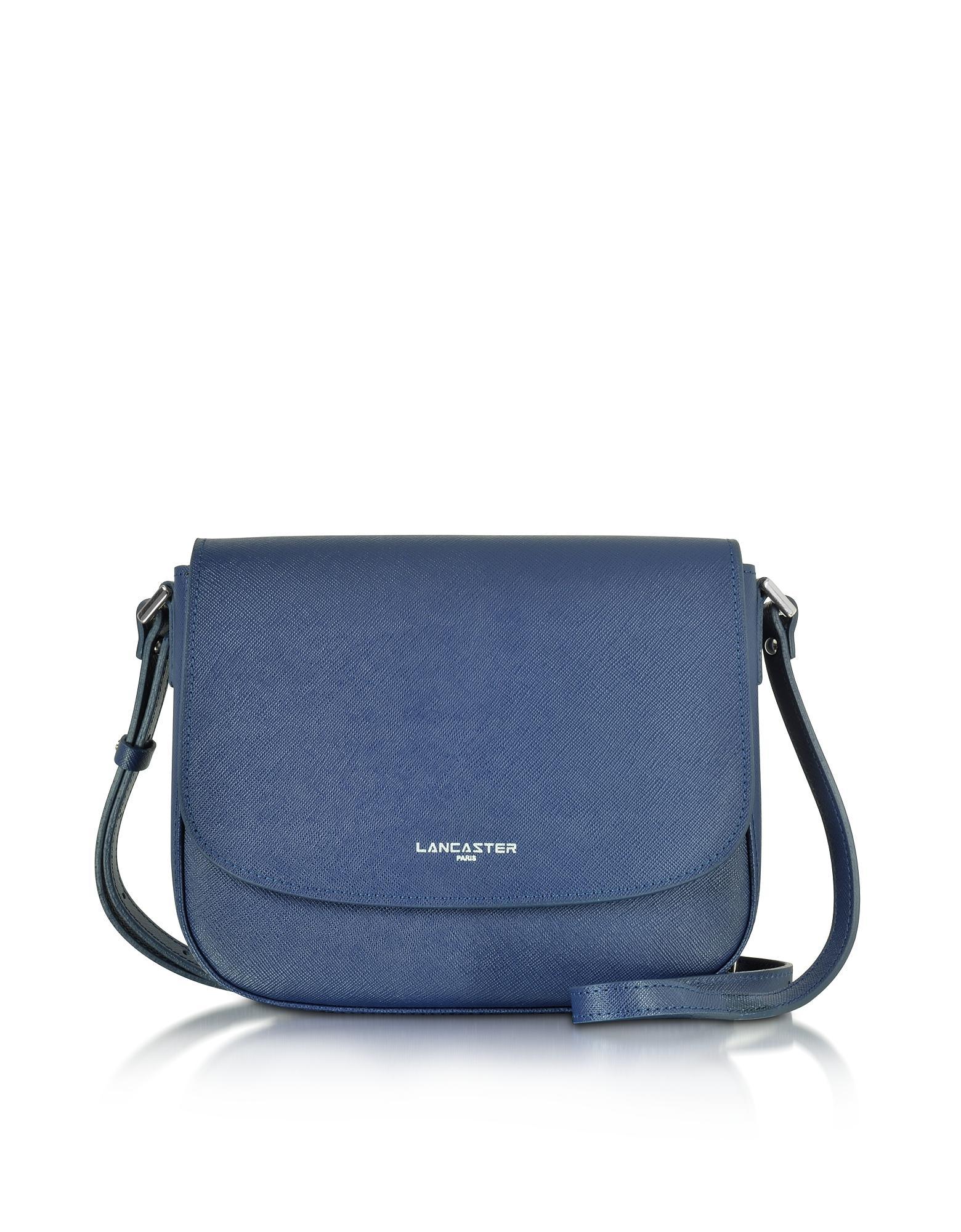 48db529c60ca Lancaster Paris Adele Saffiano Leather Crossbody Bag in Blue - Lyst