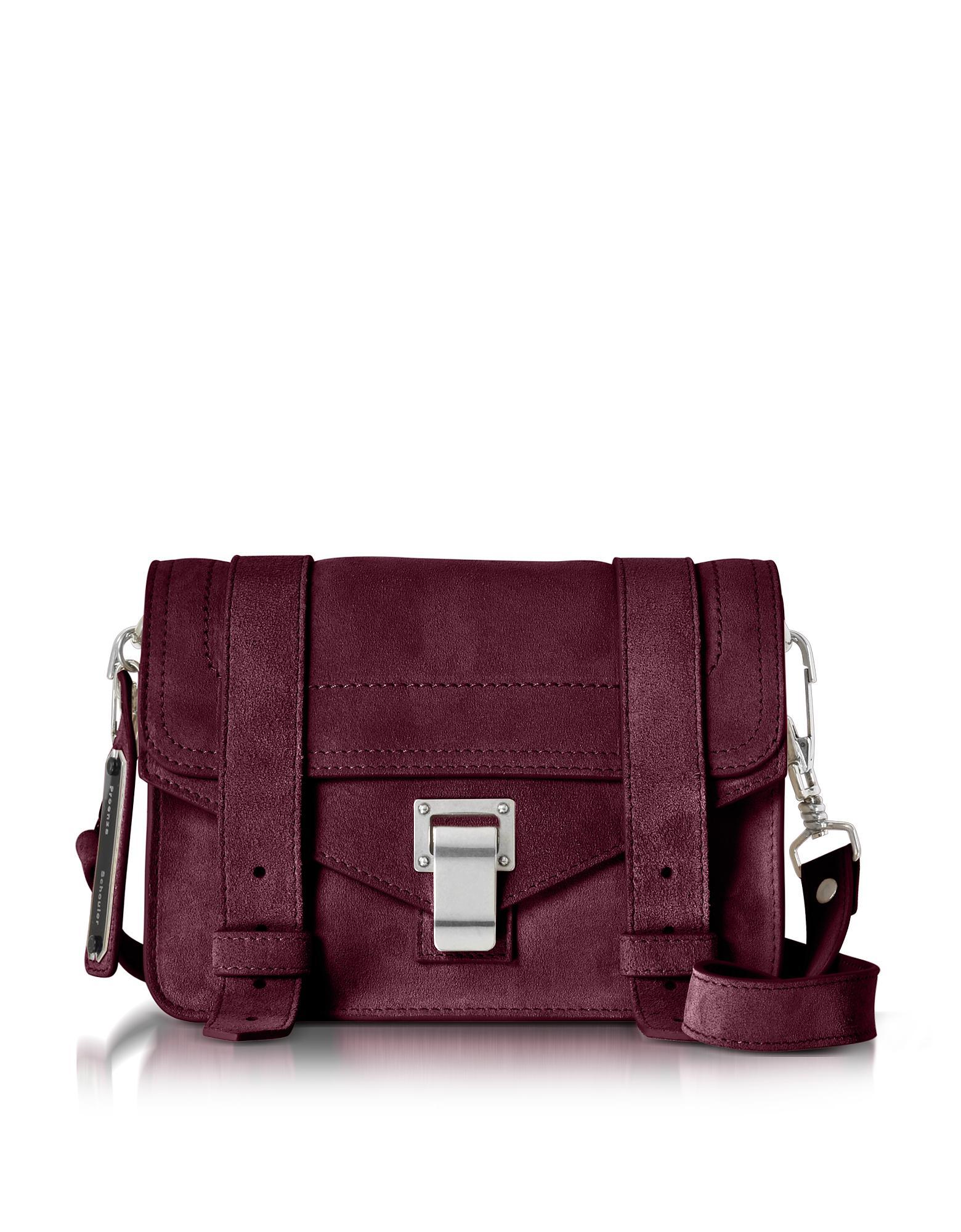 Proenza Schouler Woman Ps1 Eyelet-embellished Suede Shoulder Bag Purple Size Proenza Schouler Clearance Sale Sale Best YW6JXqsO
