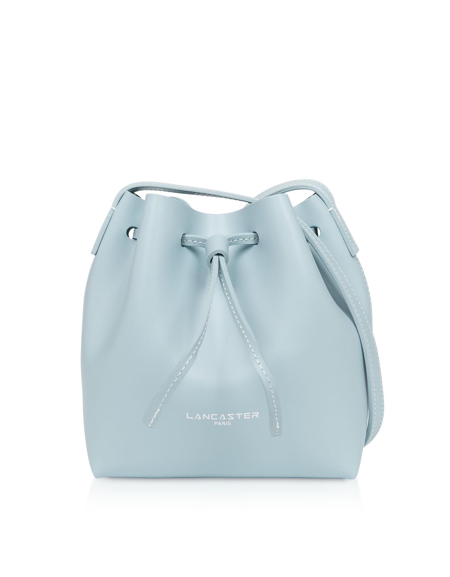 1a1ecc8674ad Lyst - Lancaster Paris Pur   Element Smooth Mini Bucket Bag in Blue