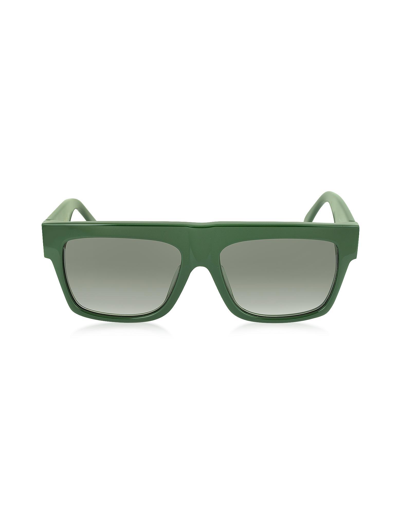 6a57fbc93946 CELINE CL 41066 S SMALL ZZ BLACK Source · Lyst C line Cl 41066 s Small Zz  Green Acetate Women s Sunglasses
