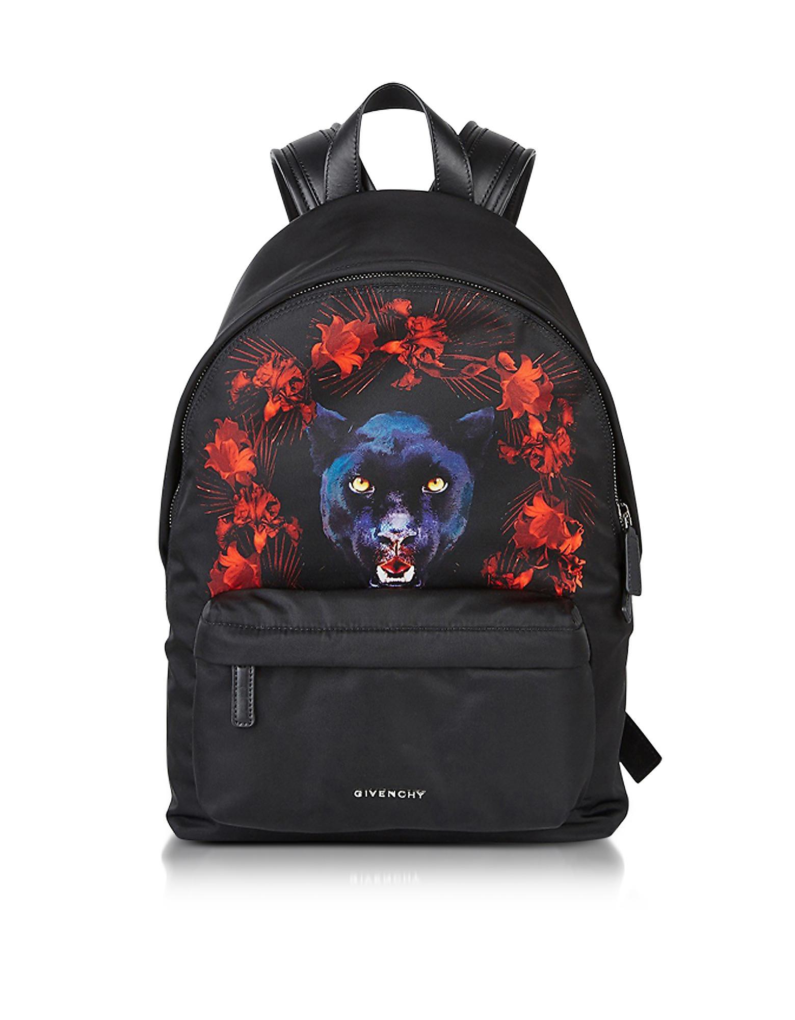 0dd5eb9aeb Lyst - Givenchy Black Nylon Jaguar Printed Small Backpack .
