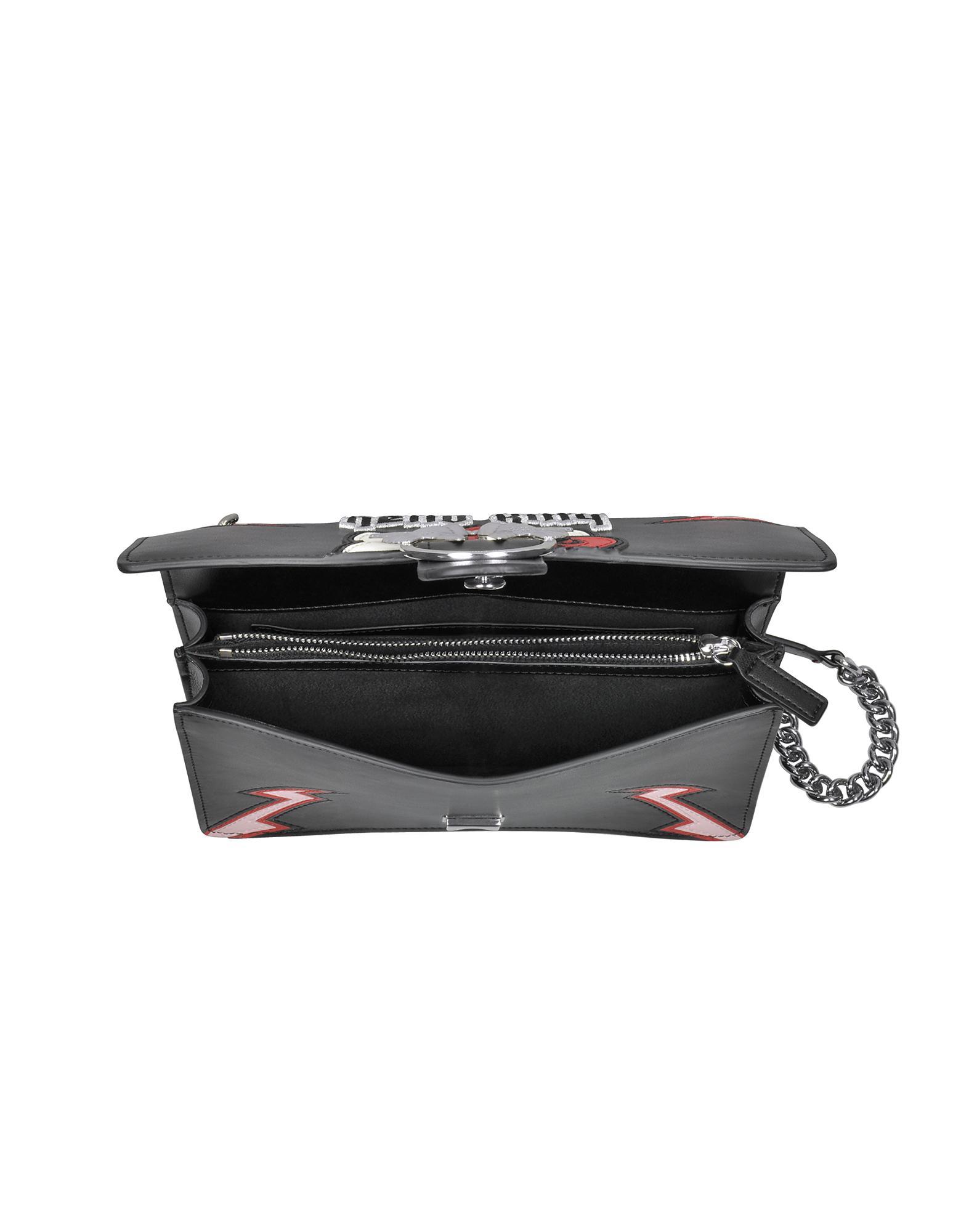 6d33417c92f3 Lyst - Pinko Women s Black Faux Leather Shoulder Bag in Black