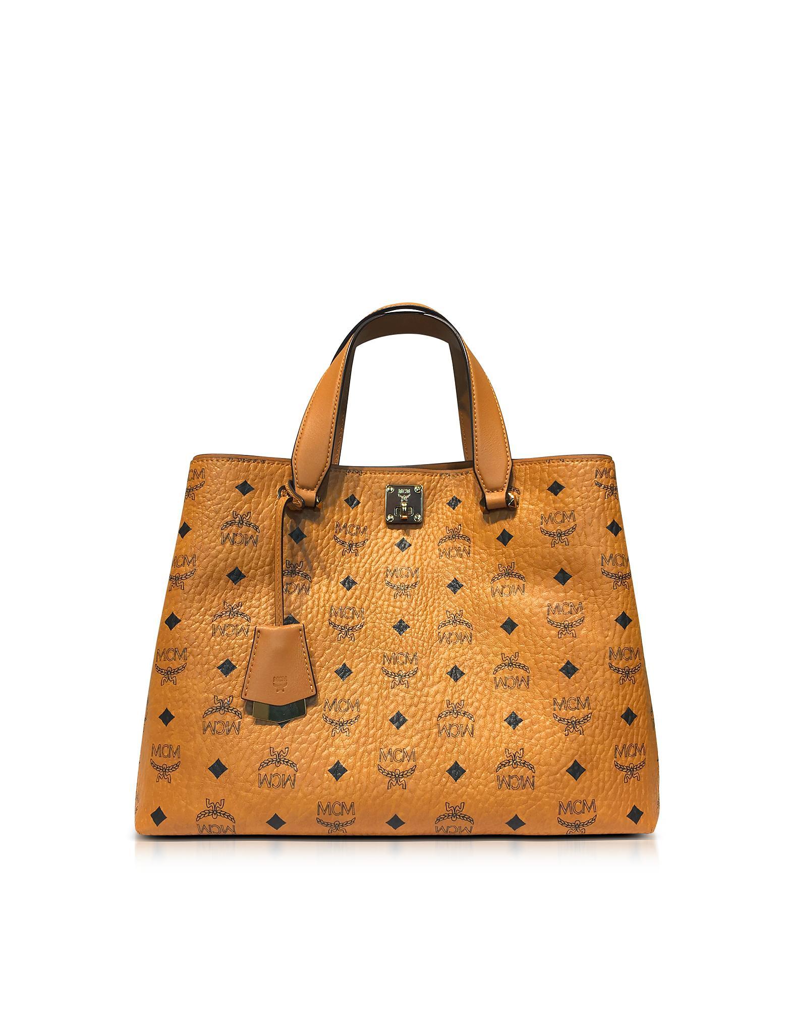 Mcm Sac Shopping Avec Patchs Visetos Cognac BvUhLwF8D
