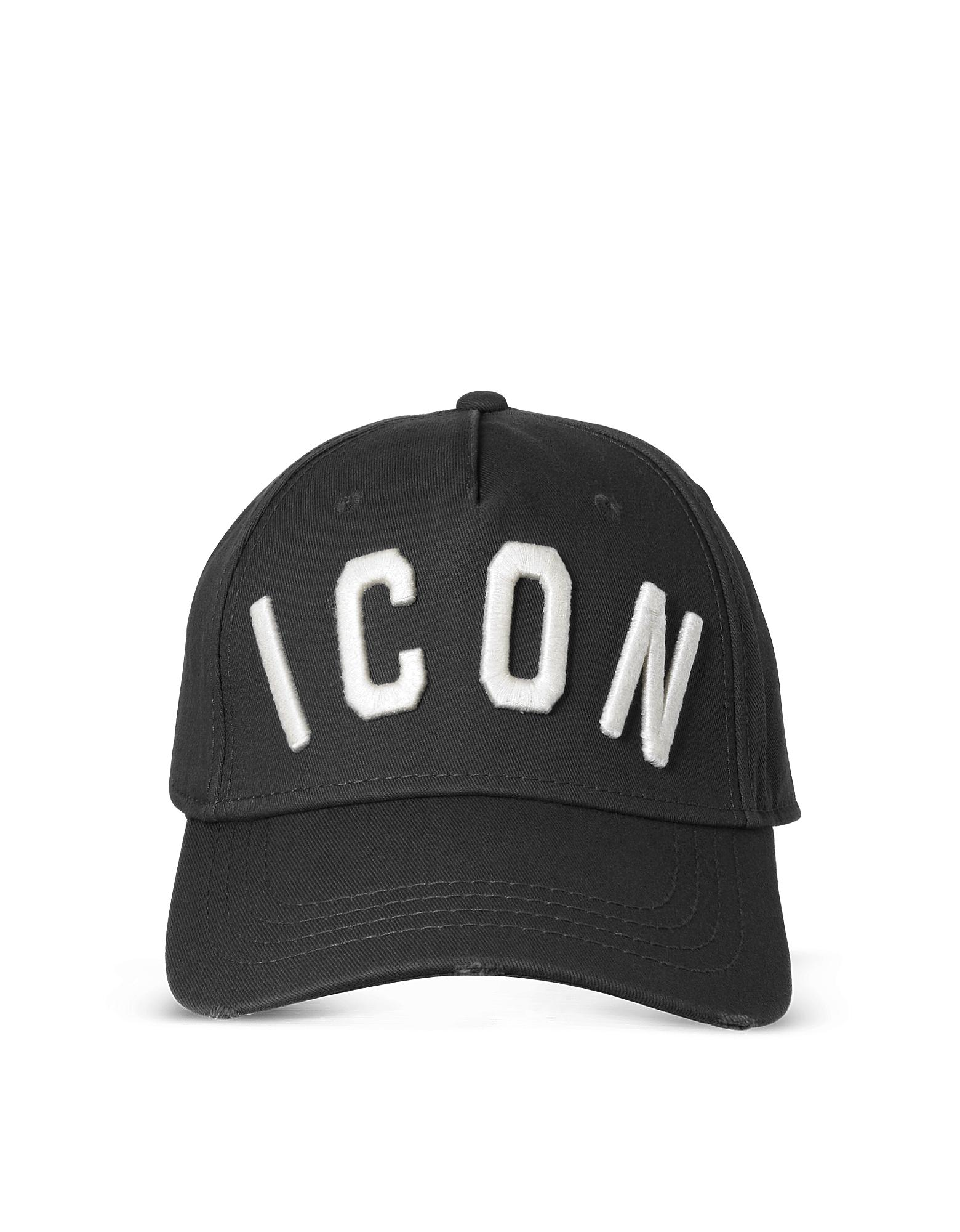 7e57d9bd733624 Lyst - DSquared² Black Icon Embroidered Baseball Cap in Black for Men