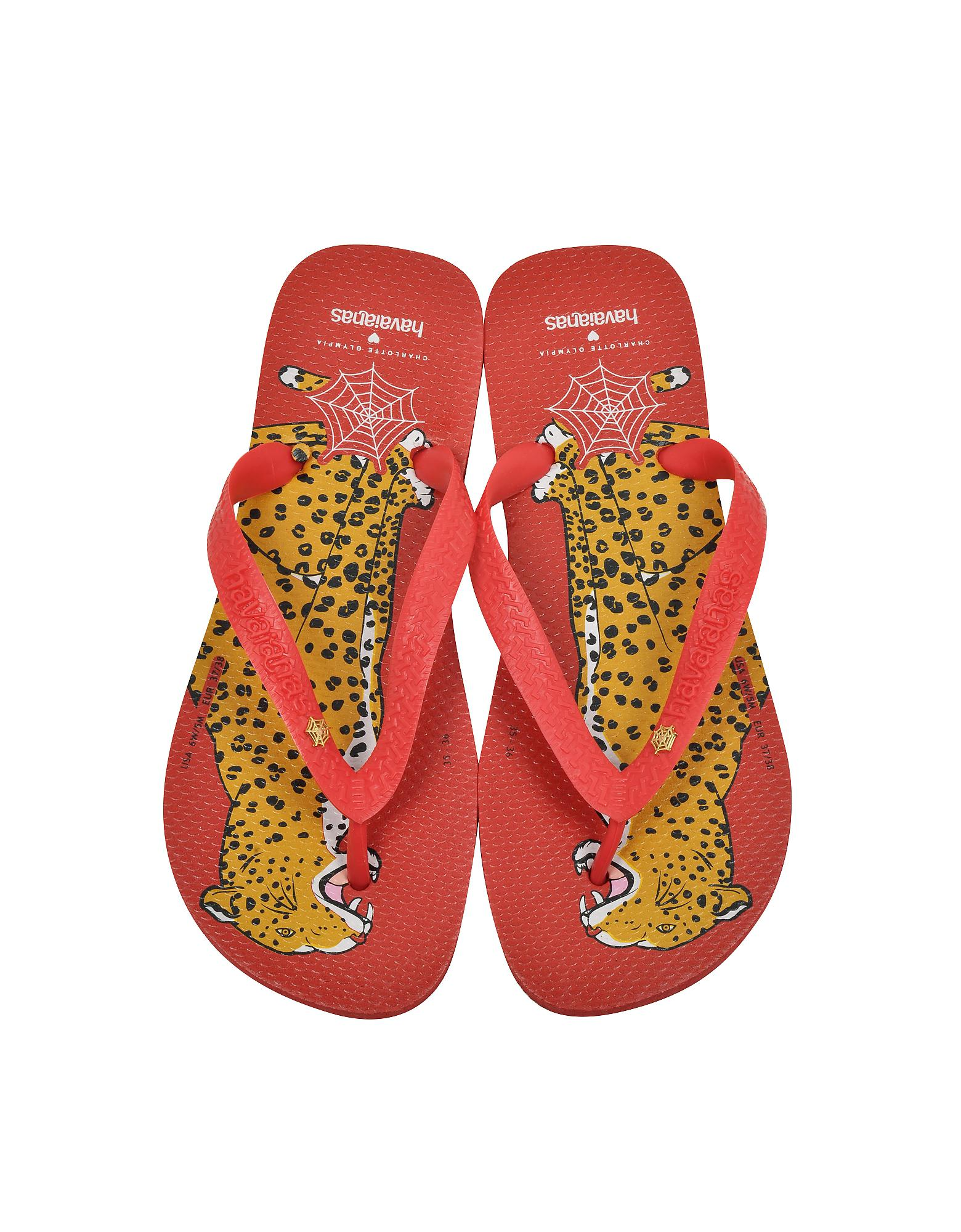 a00981c3c Lyst - Charlotte Olympia Bruce Havaianas Ruby Red Rubber Flip Flop ...