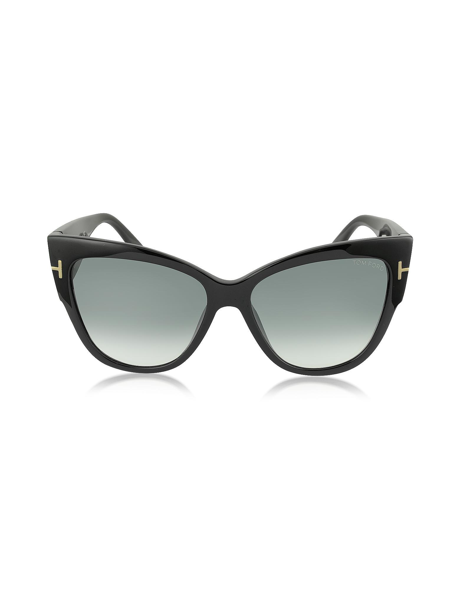 fcde5ce0f8 Tom Ford - Anoushka Ft0371 01b Black Cat Eye Sunglasses - Lyst. View  fullscreen