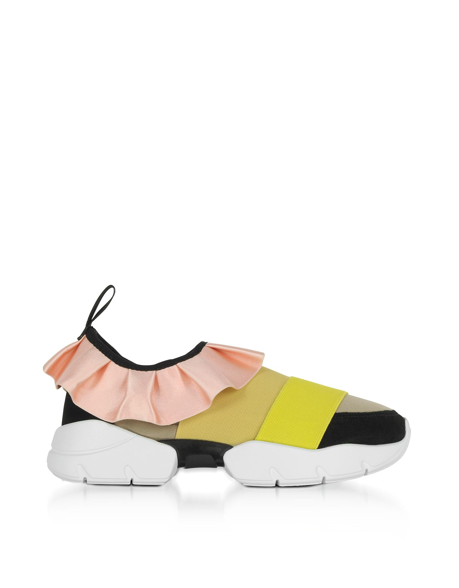 Cheap Sale 2018 New Discount Reliable ruffle strap sneakers - Yellow & Orange Emilio Pucci 4yqNajG