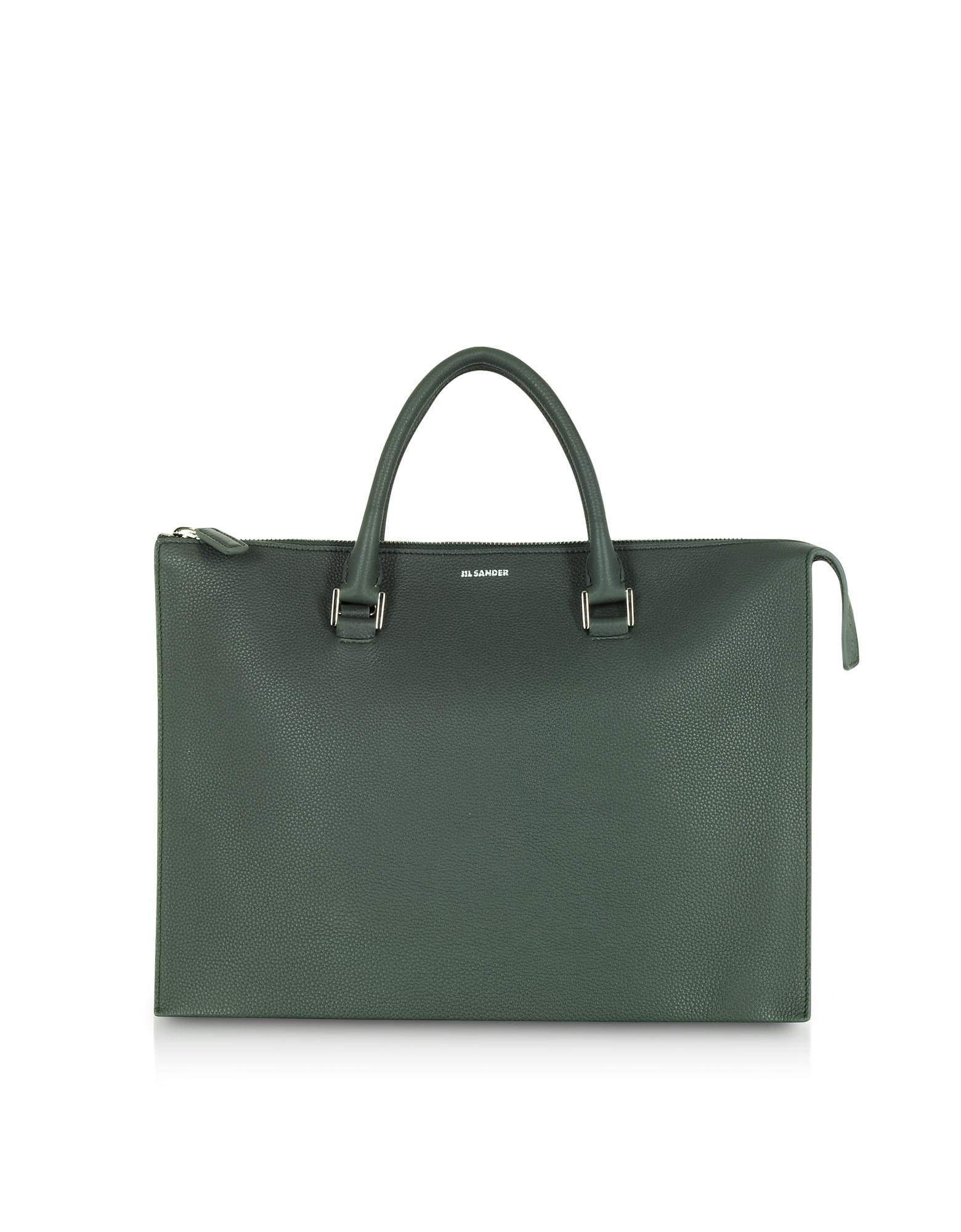 67f5c6f7c68 Jil Sander Tootie Knitted Leather Tote Bag in Green - Lyst
